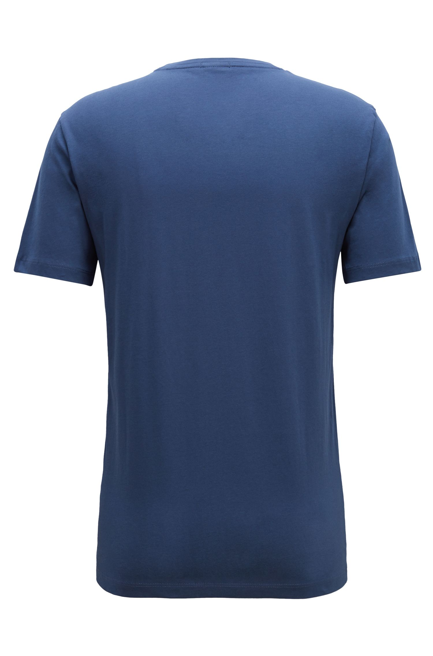 T-Shirt aus Single Jersey mit 3D-Logo, Blau