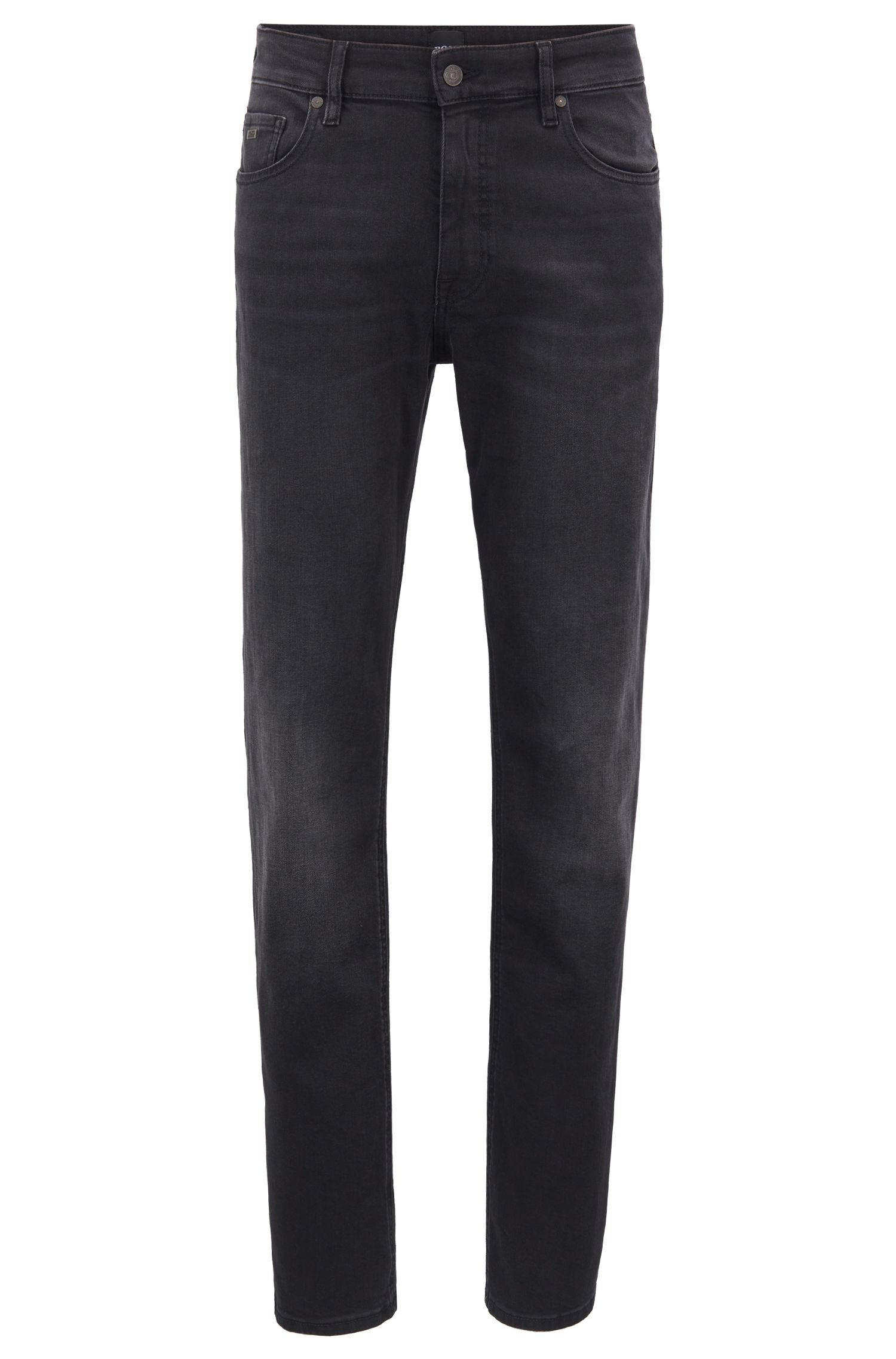 Relaxed-Fit Jeans aus Bi-Stretch-Denim, Schwarz