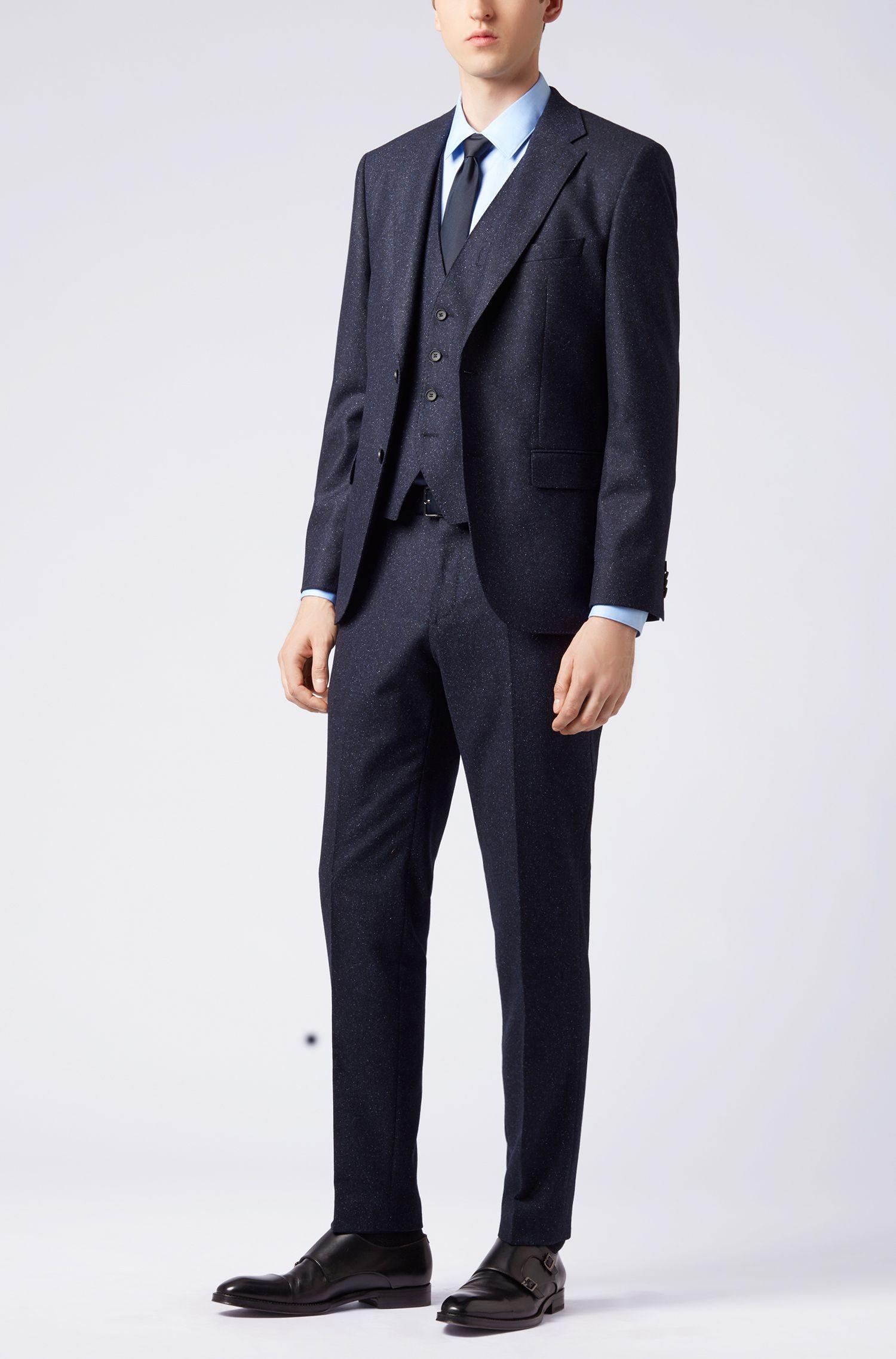 Slim-Fit Weste aus Tweed, Dunkelblau