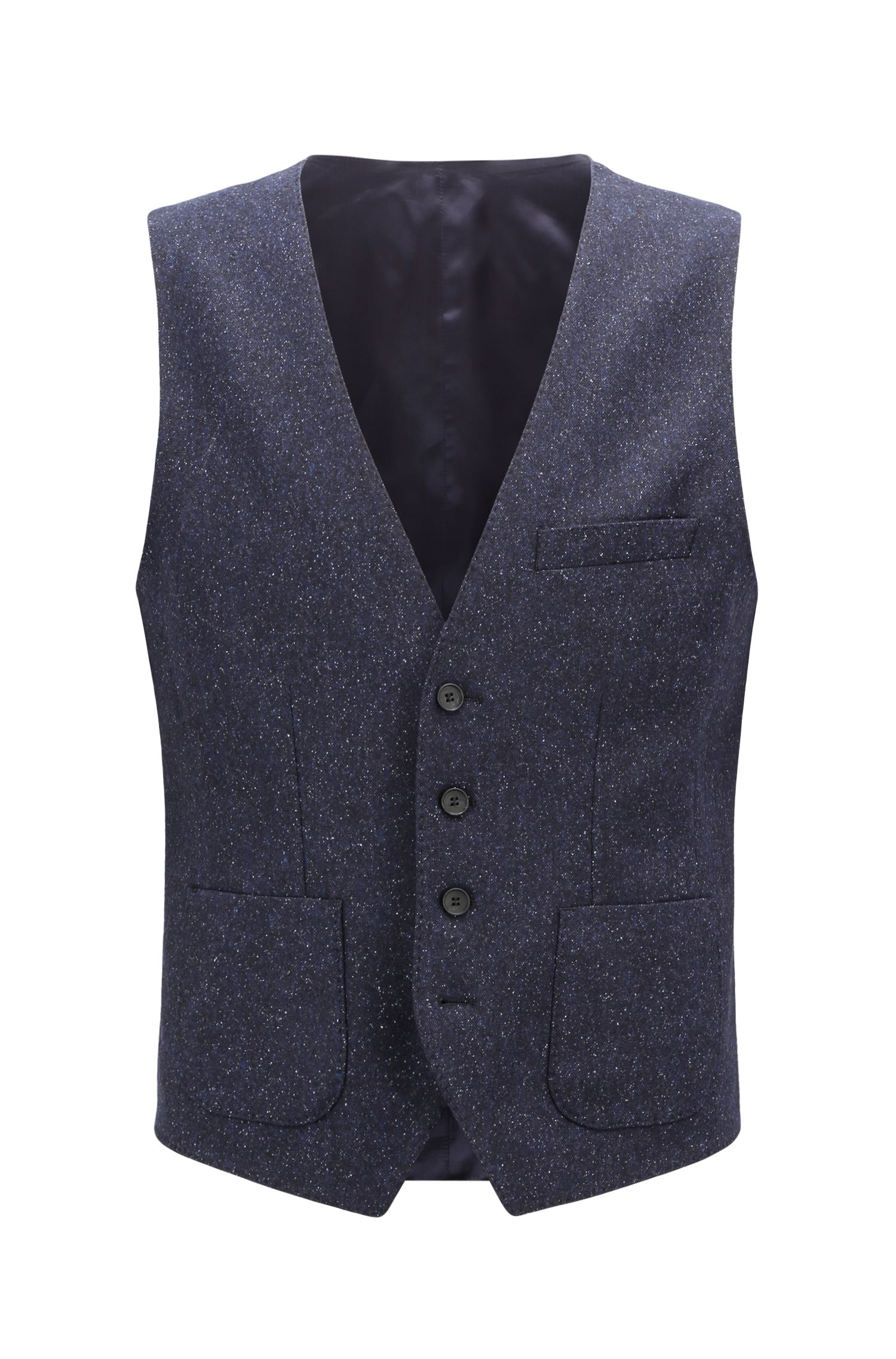 Slim-Fit Weste aus Tweed