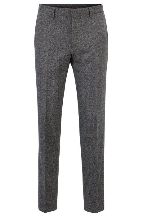 Slim-Fit Hose aus Tweed, Grau