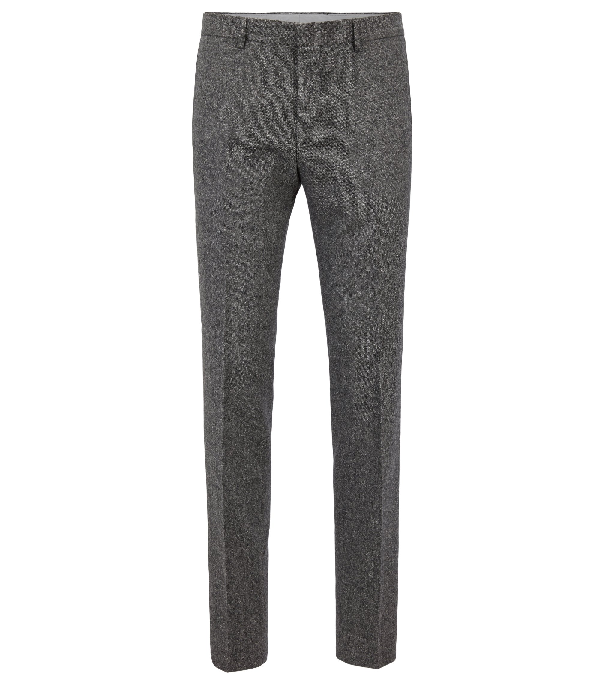 Slim-Fit Hose aus Tweed, Grau