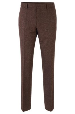 Slim-Fit Hose aus Tweed, Braun