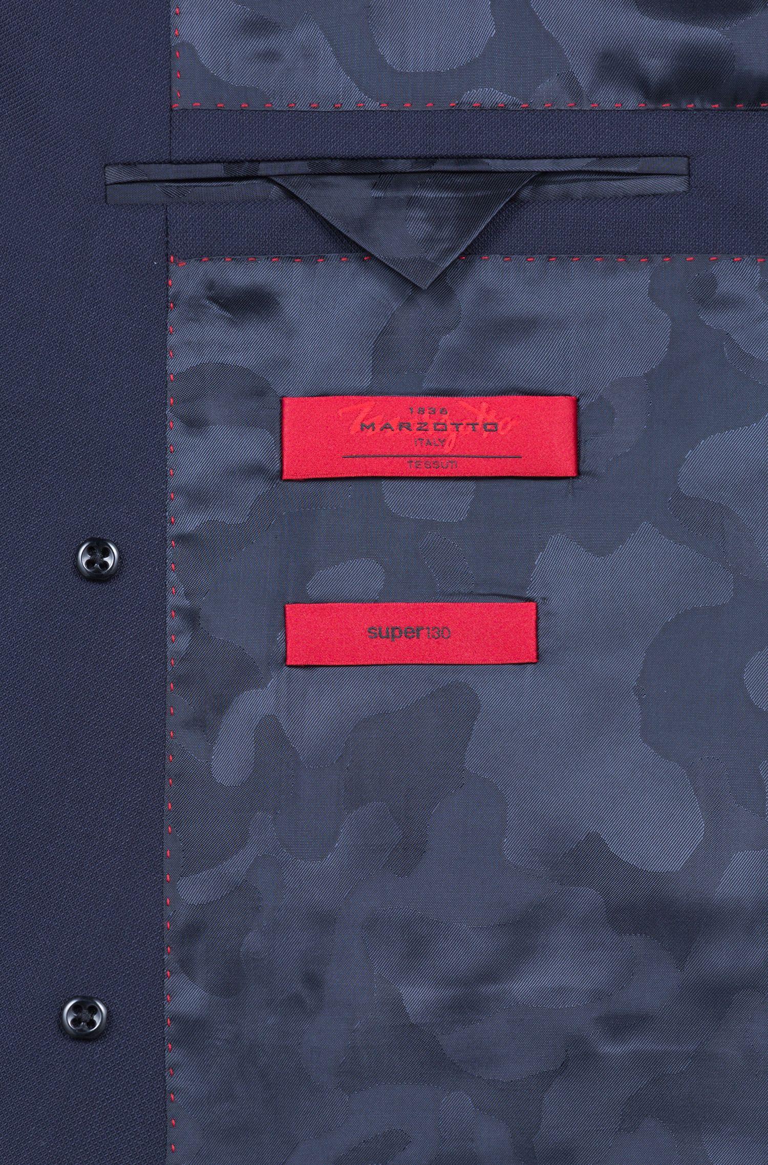 Zweireihiger Slim-Fit Anzug aus italienischer Schurwolle