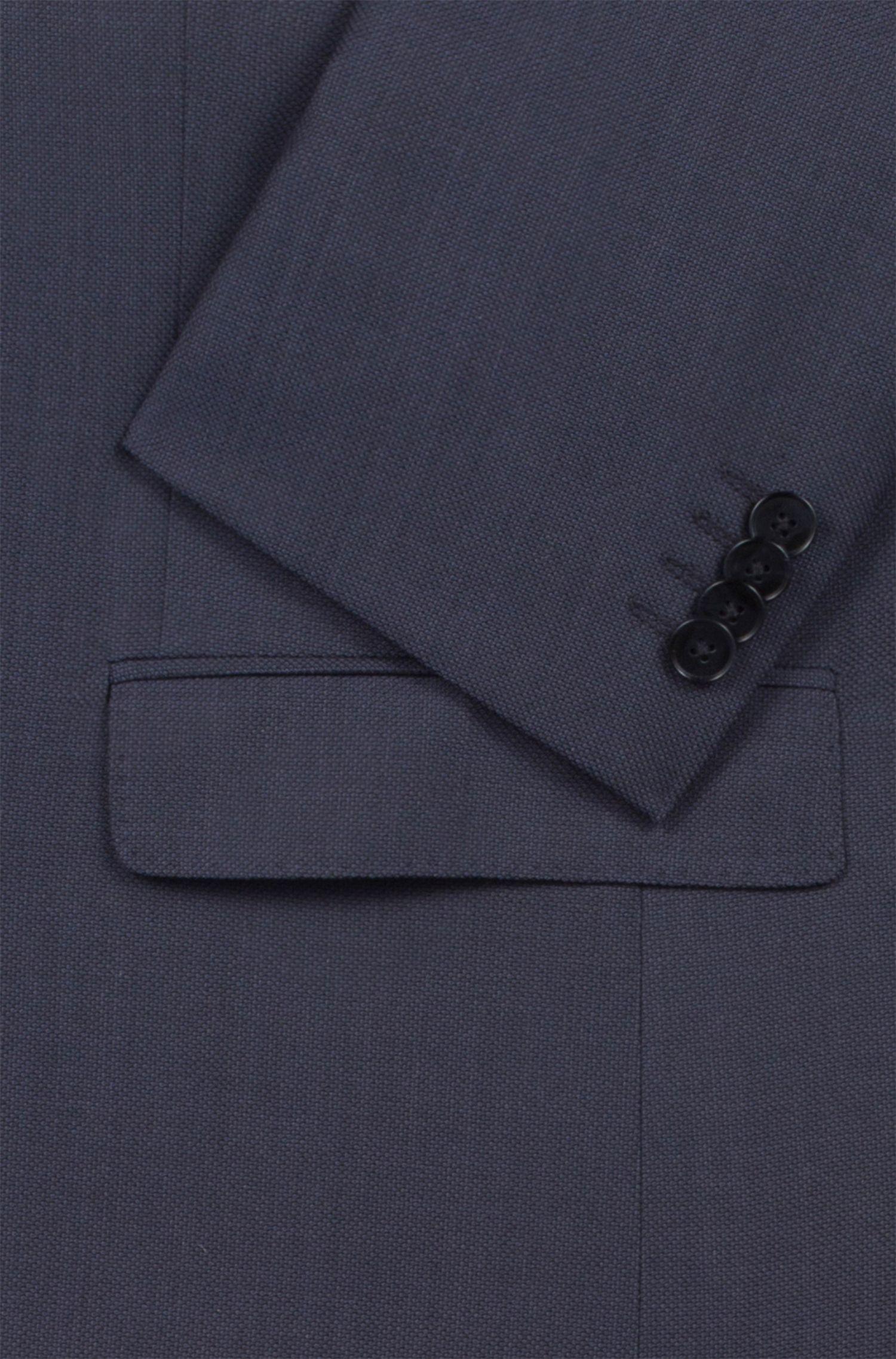 Kostuum van scheerwol met microdessin in twee kleuren, Donkerblauw