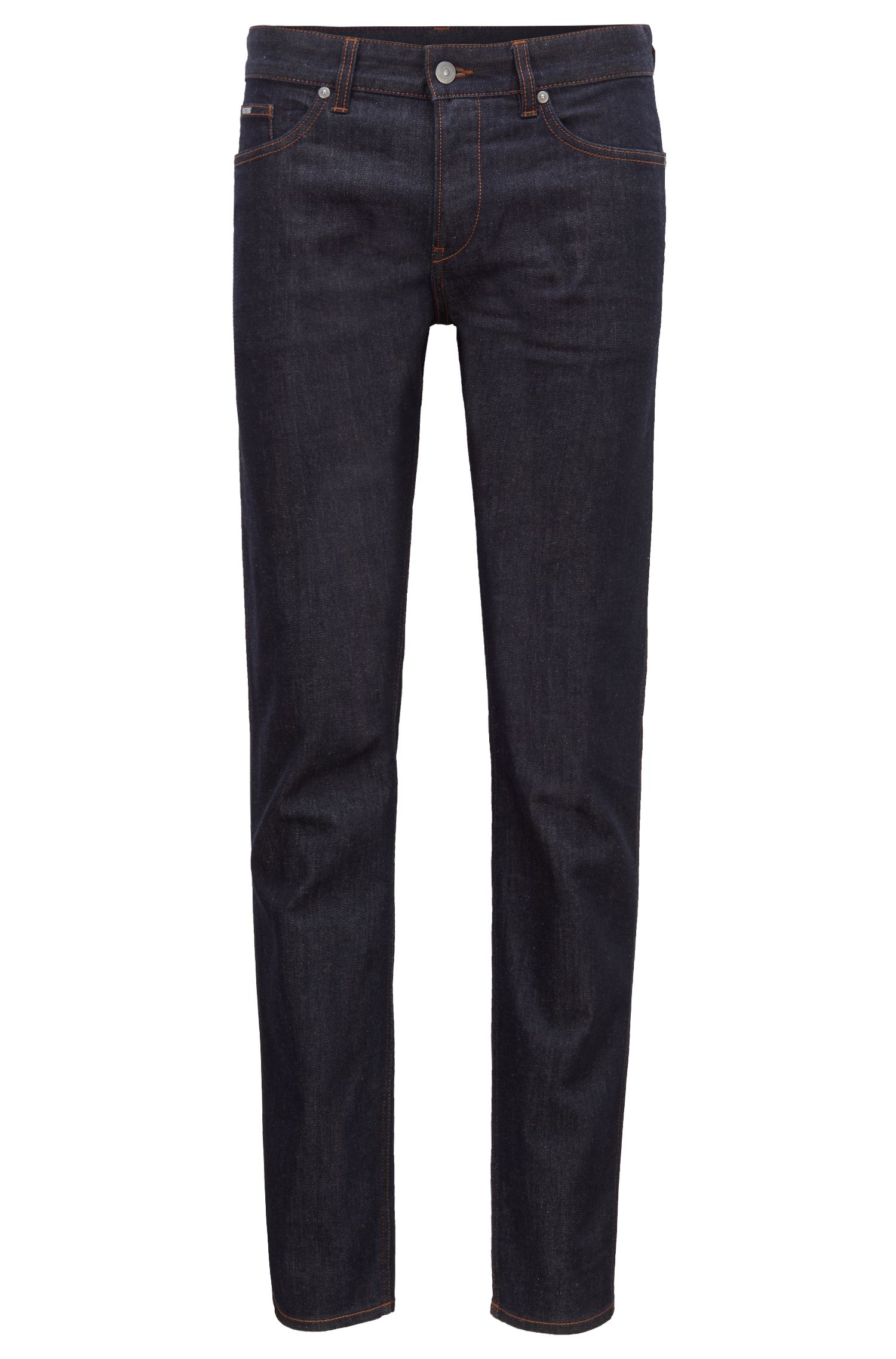 Slim-fit jeans in rinse-washed stretch denim