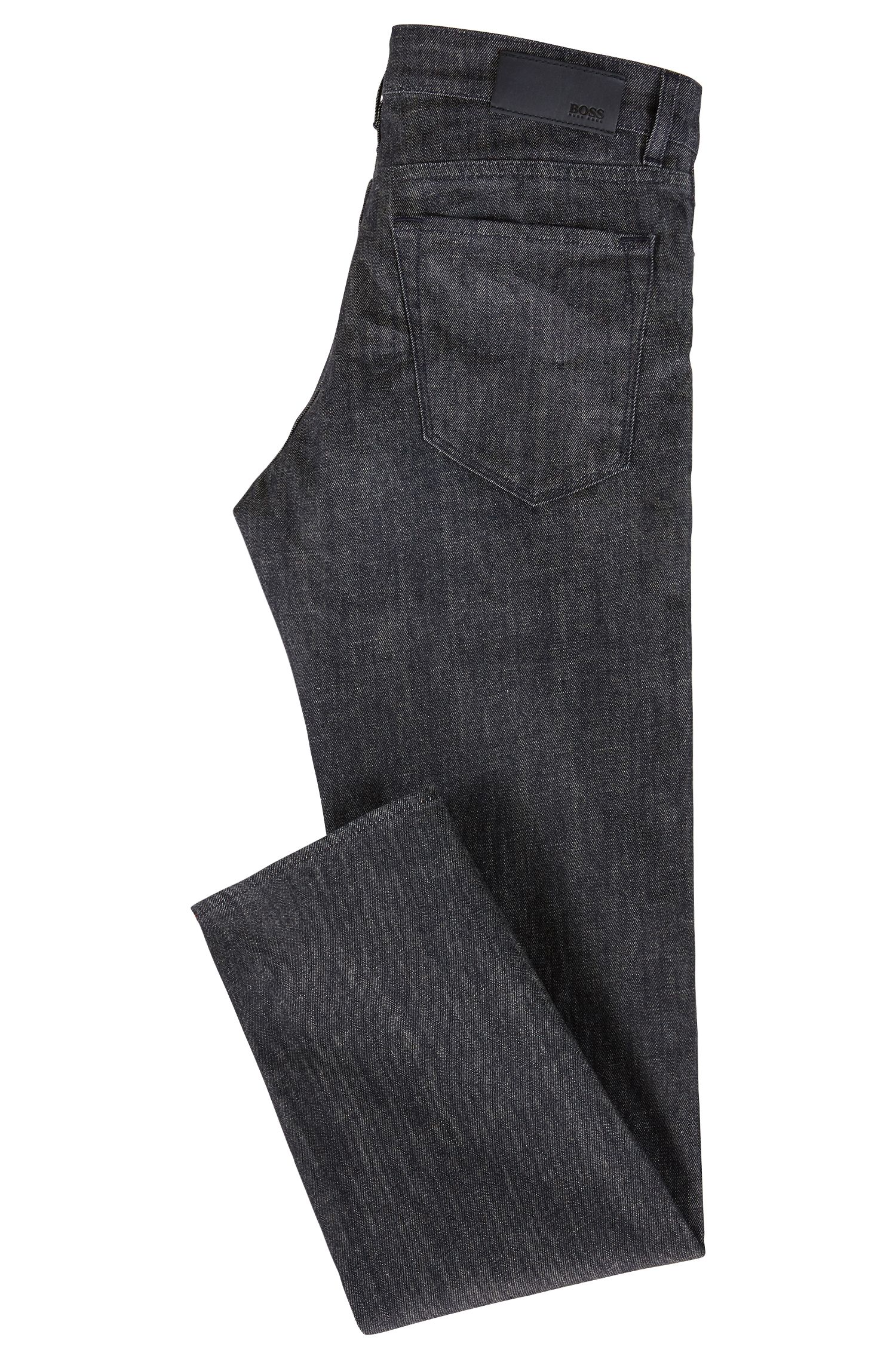 Jeans regular fit in denim elasticizzato Stay Dark ecologico, Blu scuro
