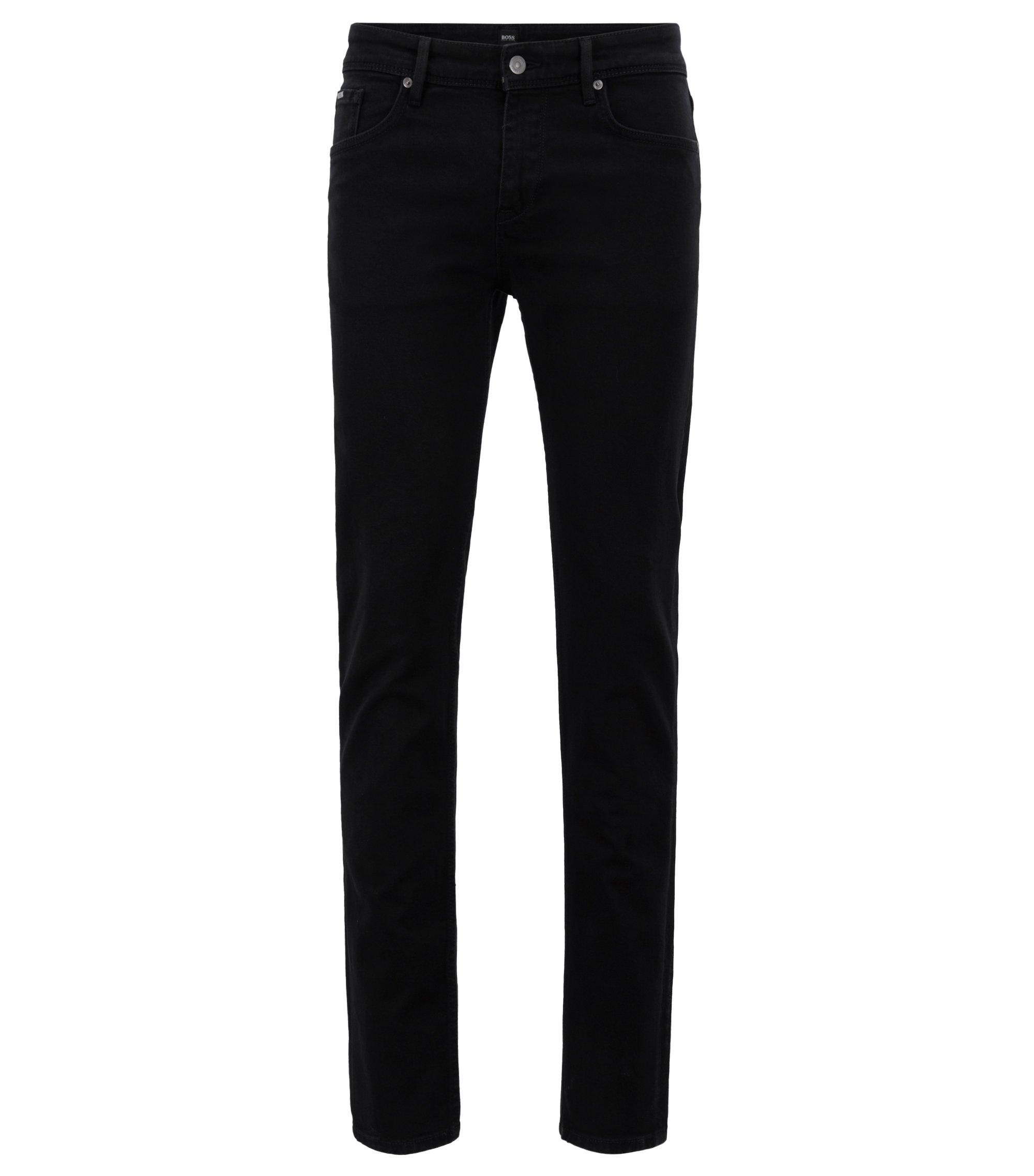 Extra Slim-Fit Jeans aus italienischem Stretch-Denim, Schwarz