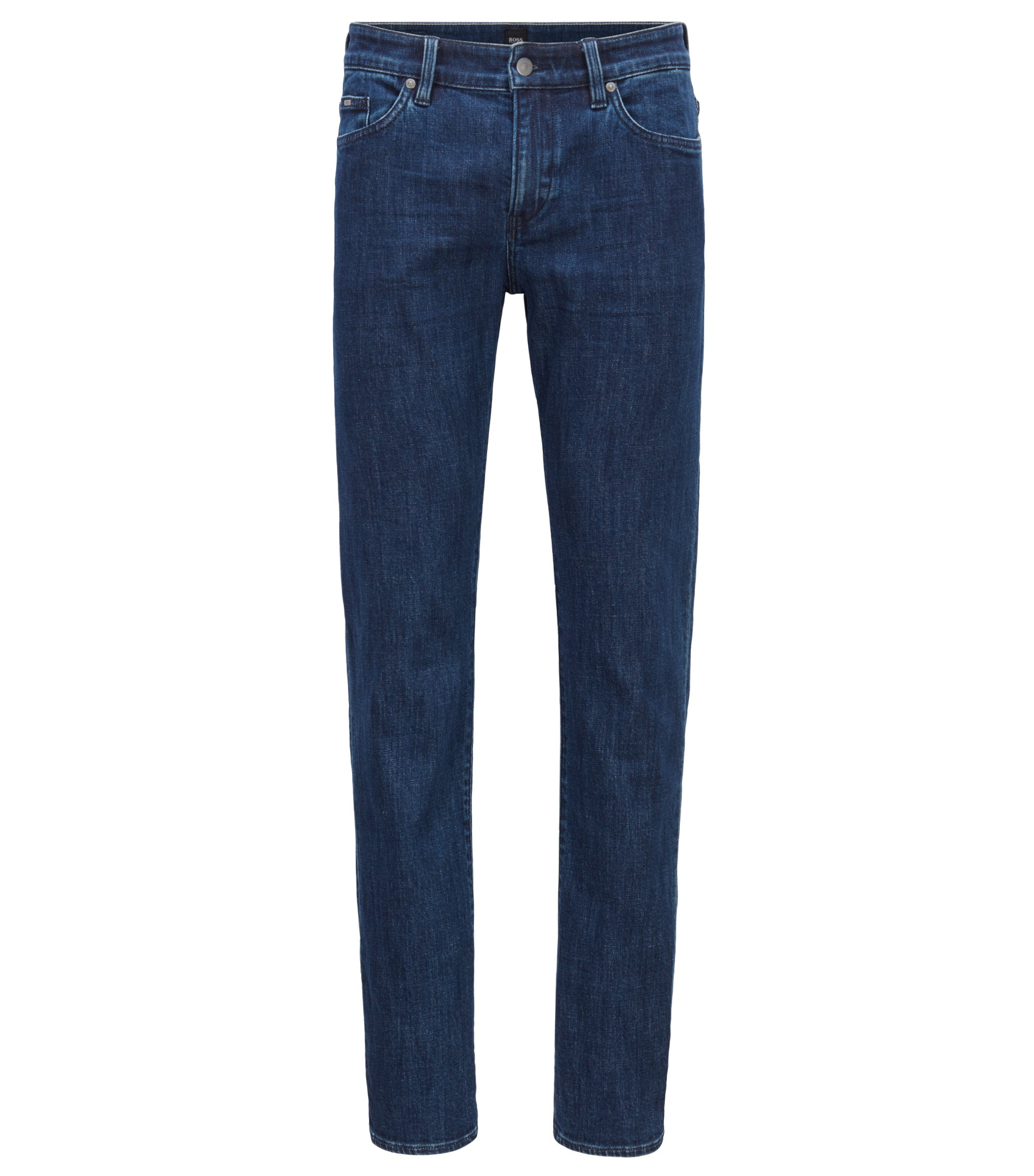 Slim-fit jeans in navy comfort-stretch denim, Blue
