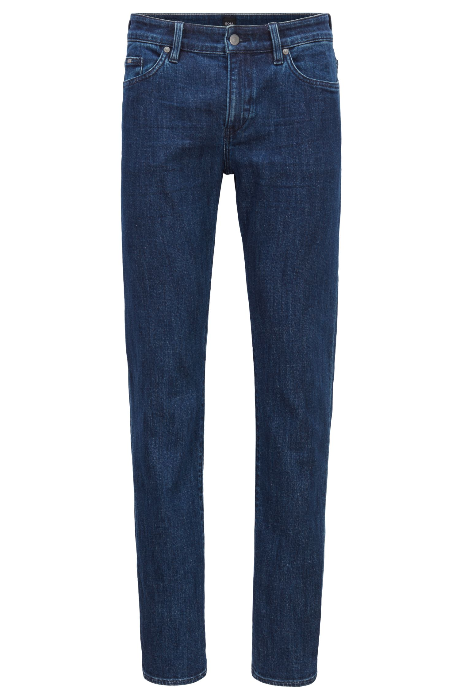 Jean Slim Fit en denim stretch bleu marine confortable, Bleu