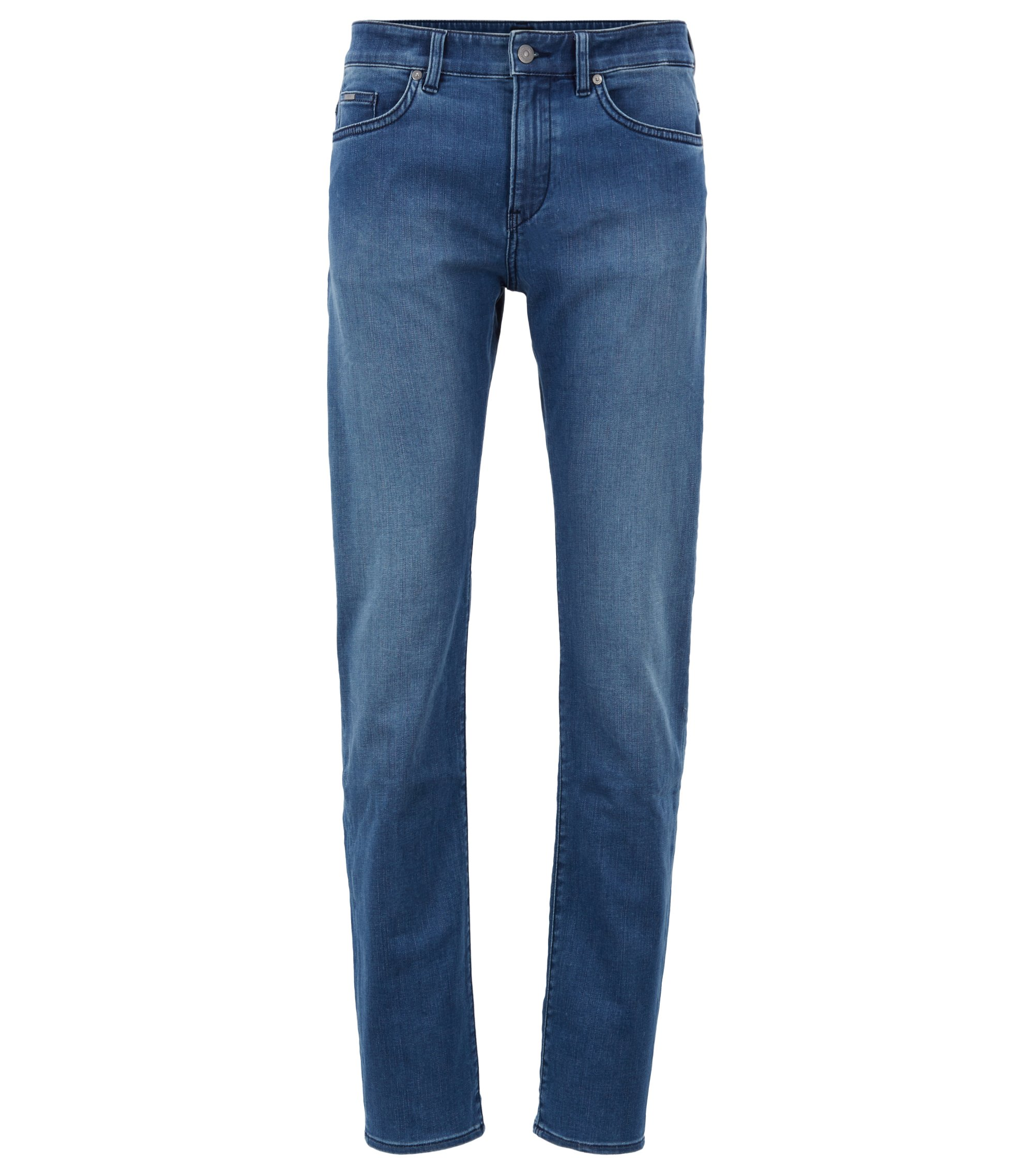 Jeans slim fit in morbidissimo denim elasticizzato, Turchese