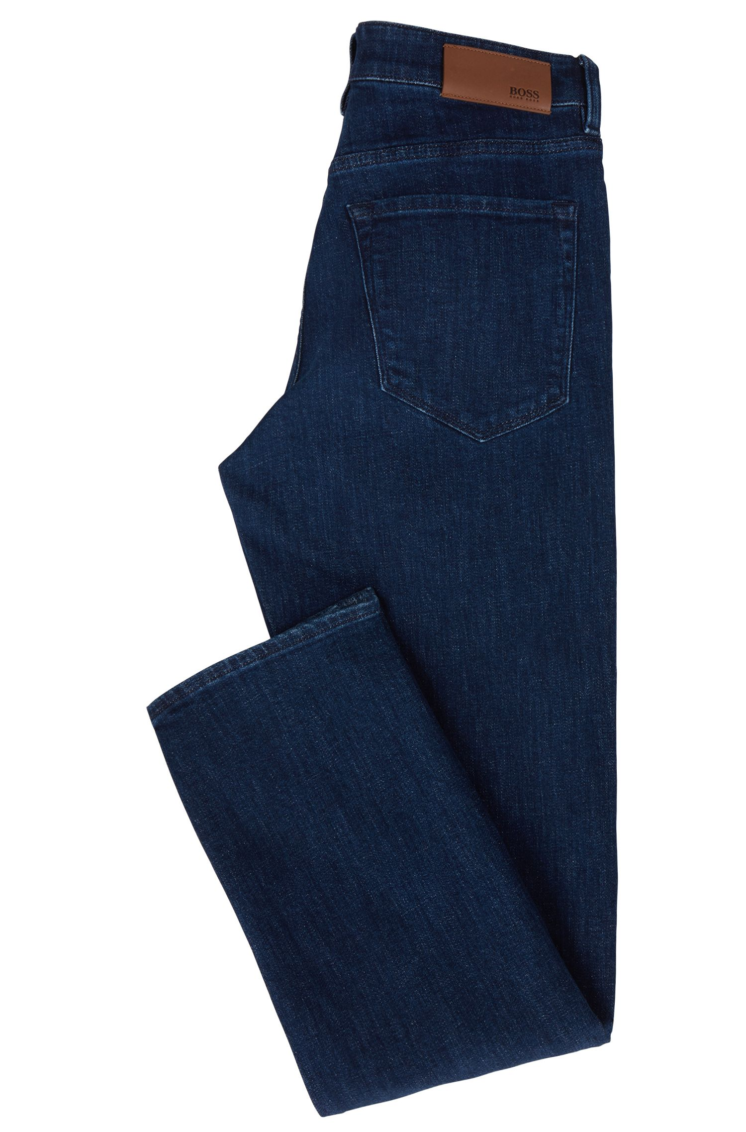 Jean Regular Fit en denim stretch bleu marine confortable, Bleu