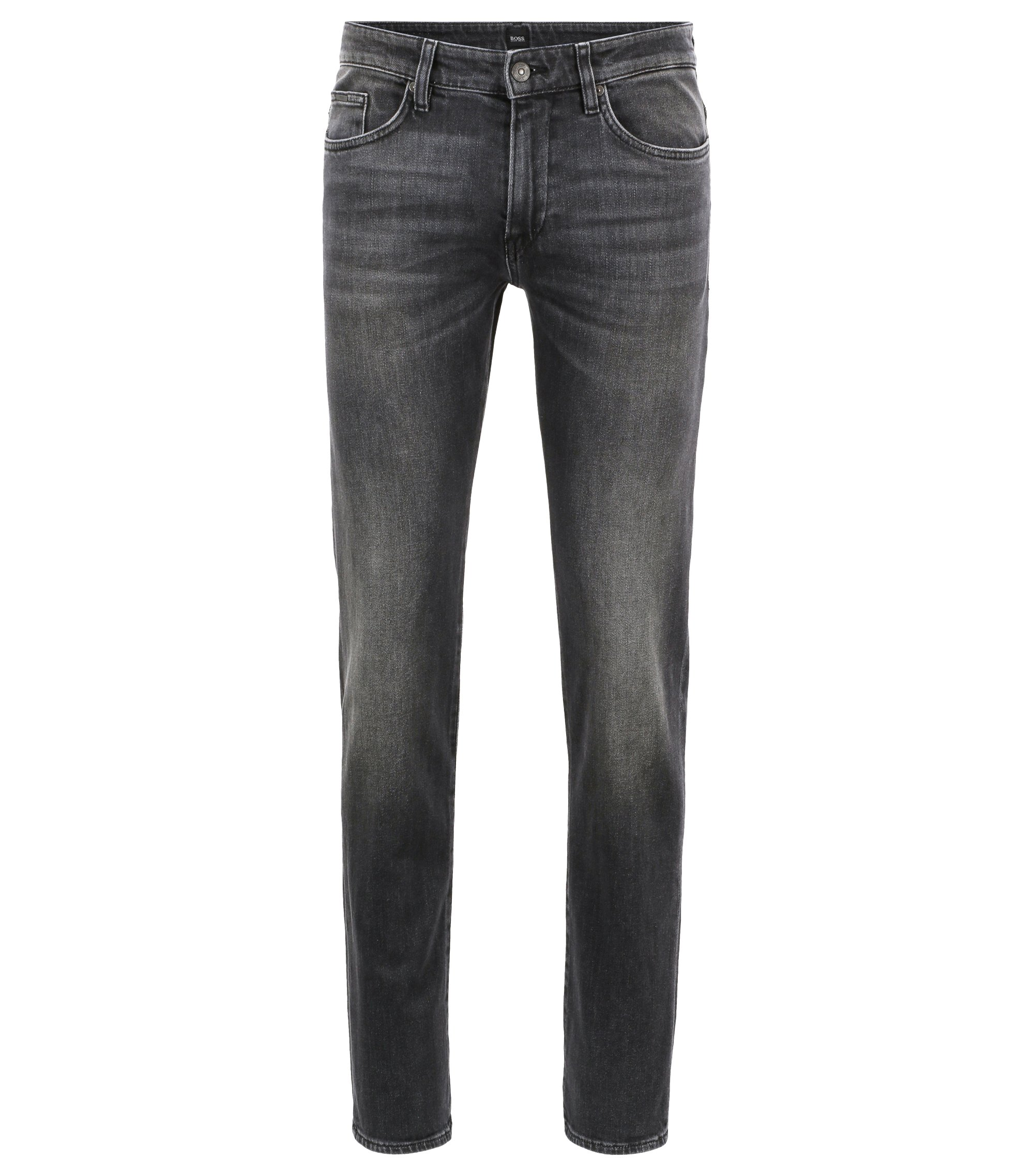 Slim-fit jeans van grijs stretchdenim, Antraciet