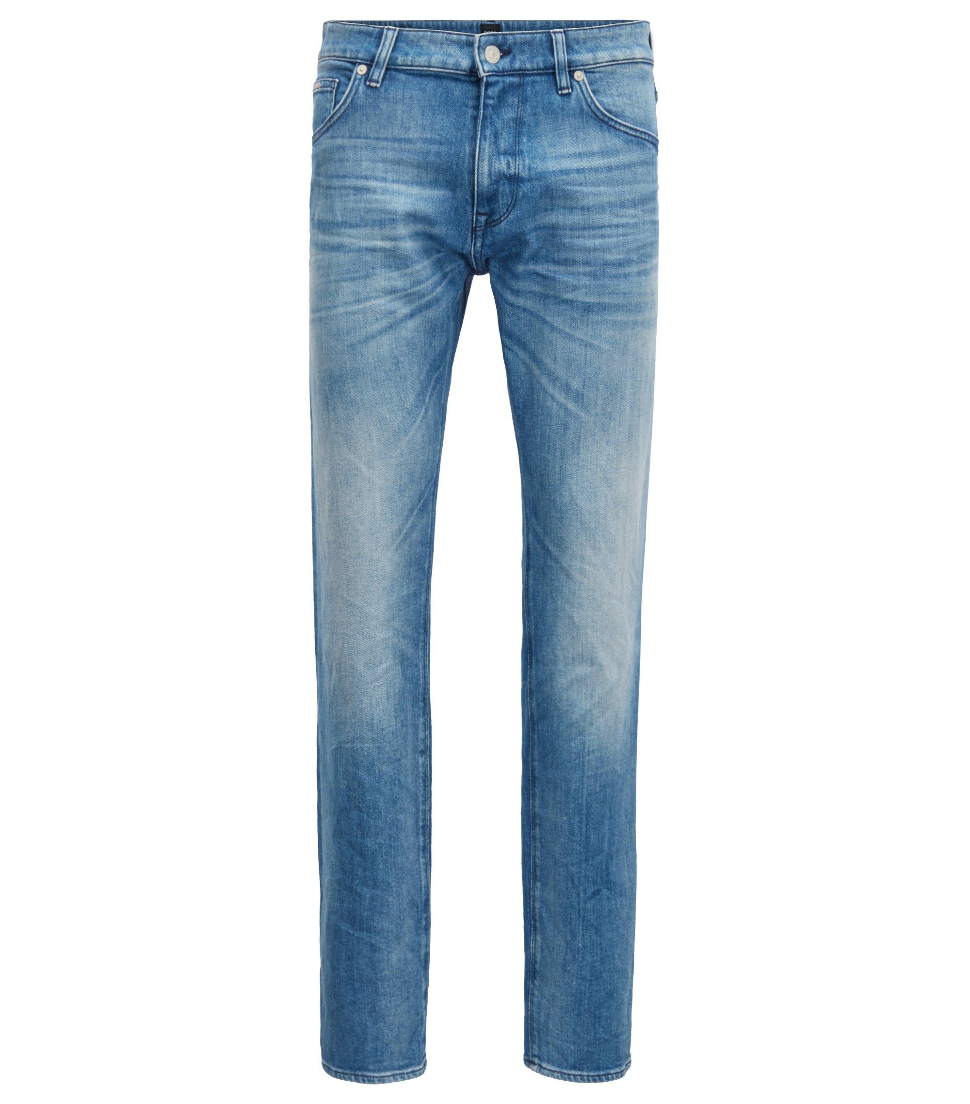 Regular-fit jeans van Italiaans ringgesponnen denim met stretch, Turkoois