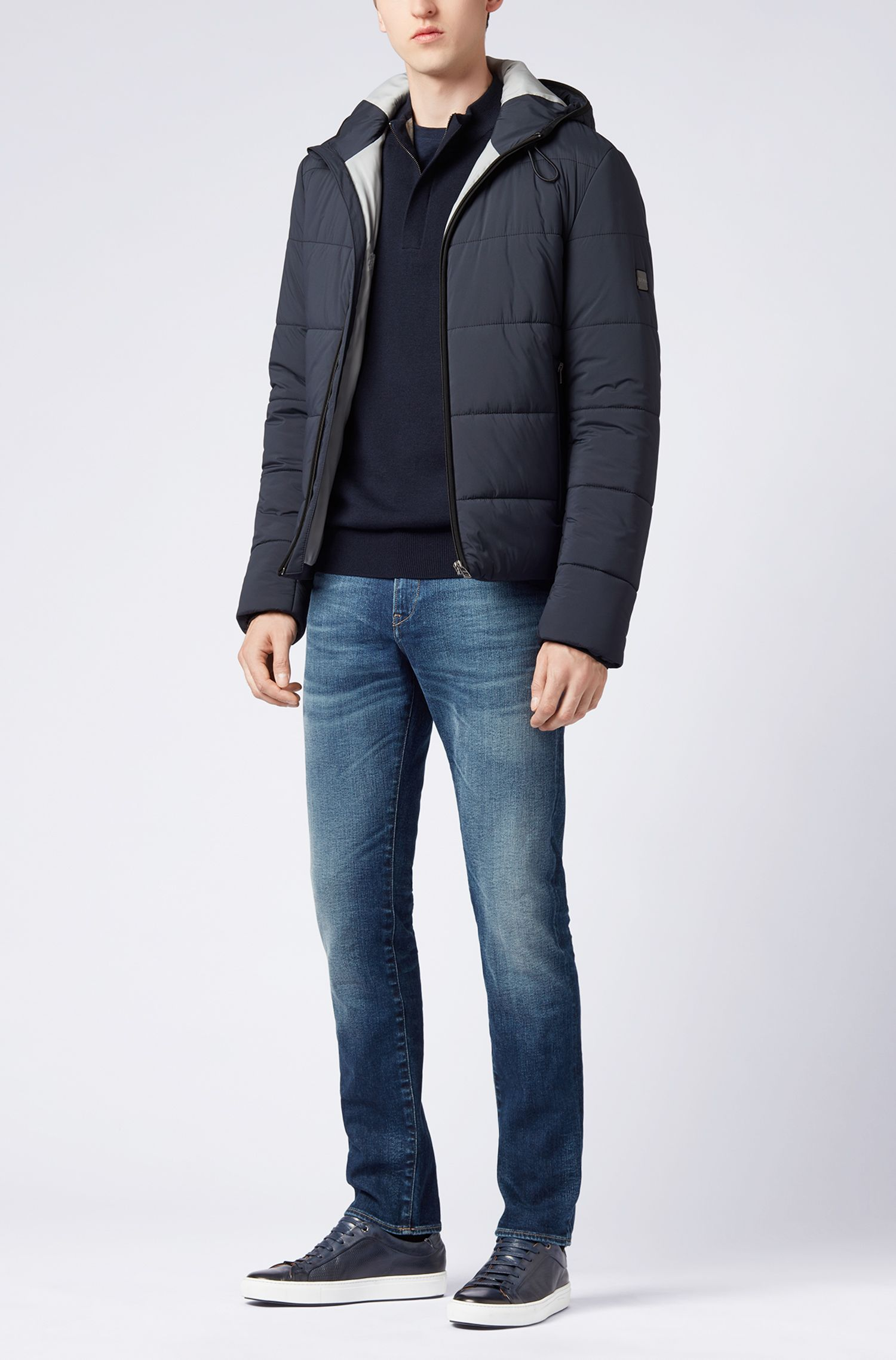 Slim-fit jeans in Italian stretch denim, Blue