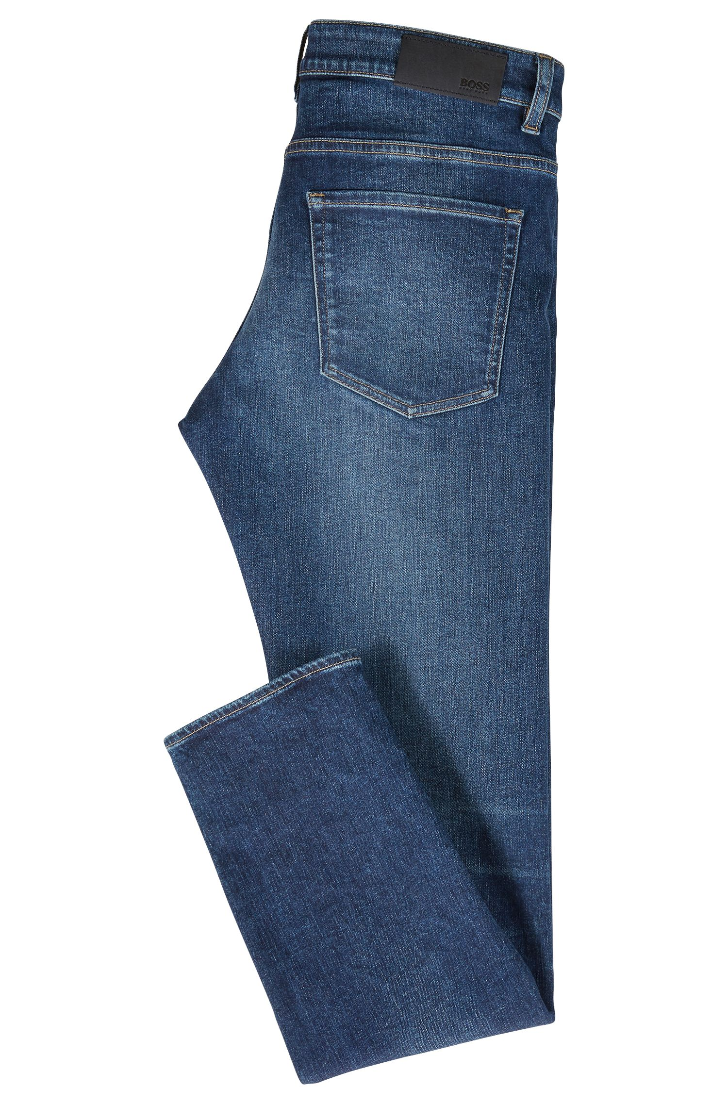 Slim-Fit Jeans aus italienischem Stretch-Denim, Blau