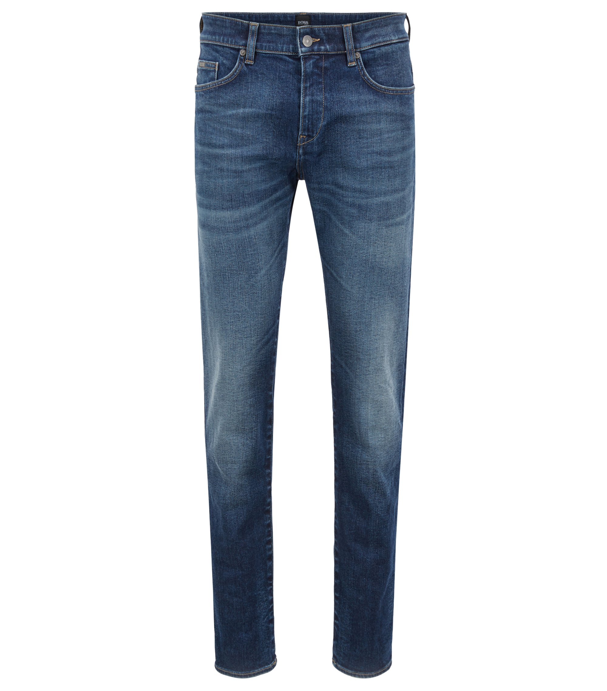 Slim-fit jeans in Italian stretch denim, Blue