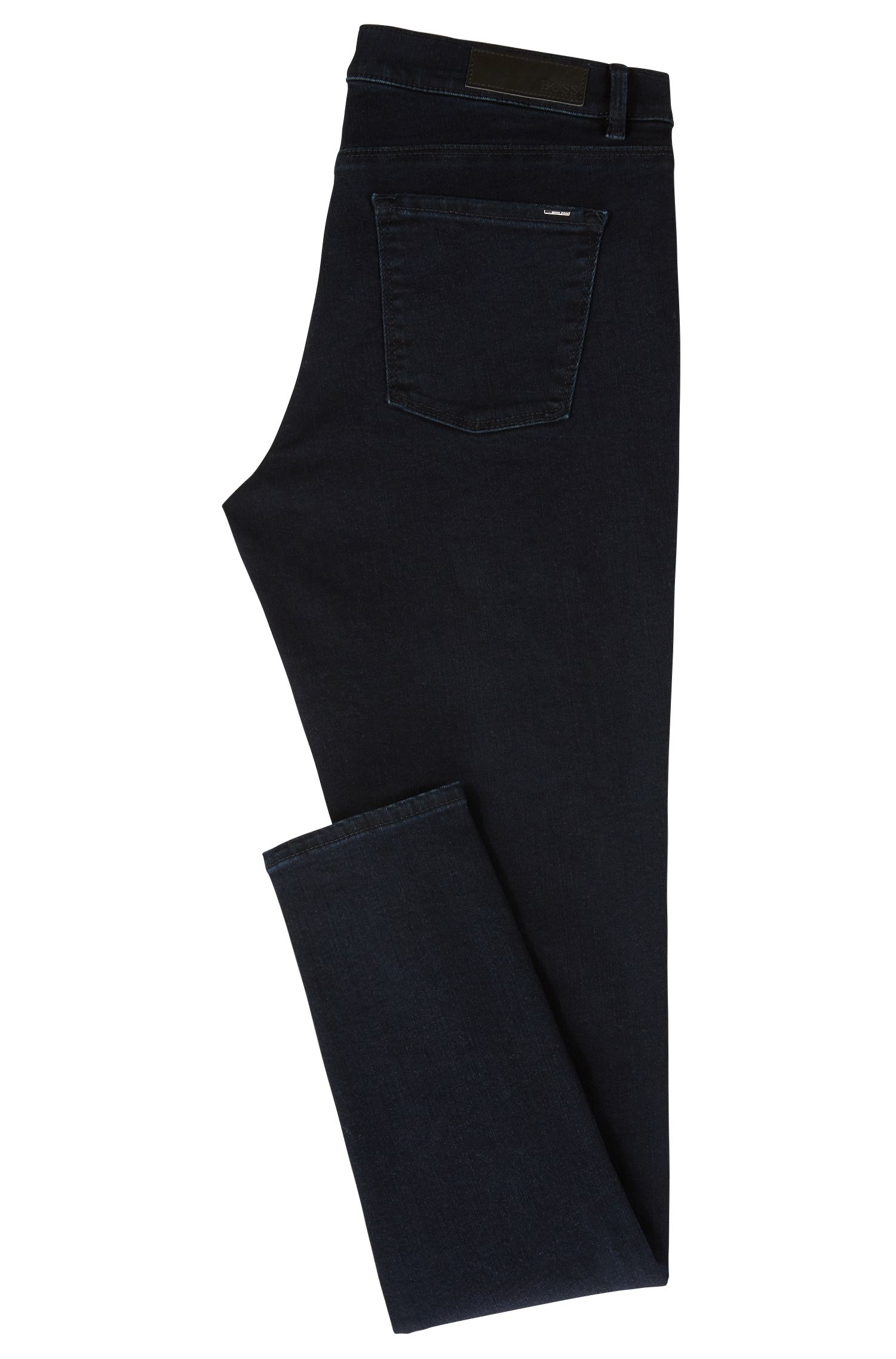 Jeans slim fit in denim super elasticizzato blu scuro