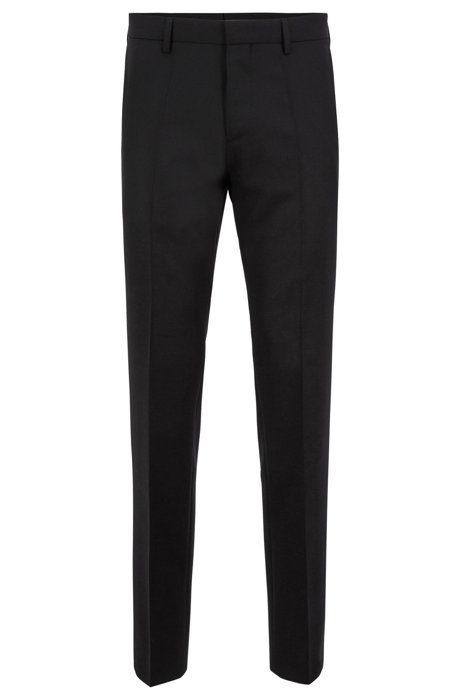 Slim-fit trousers in virgin wool with interior details BOSS Discount Amazing Price Countdown Package Sale Online Hyper Online yAAu7h6t