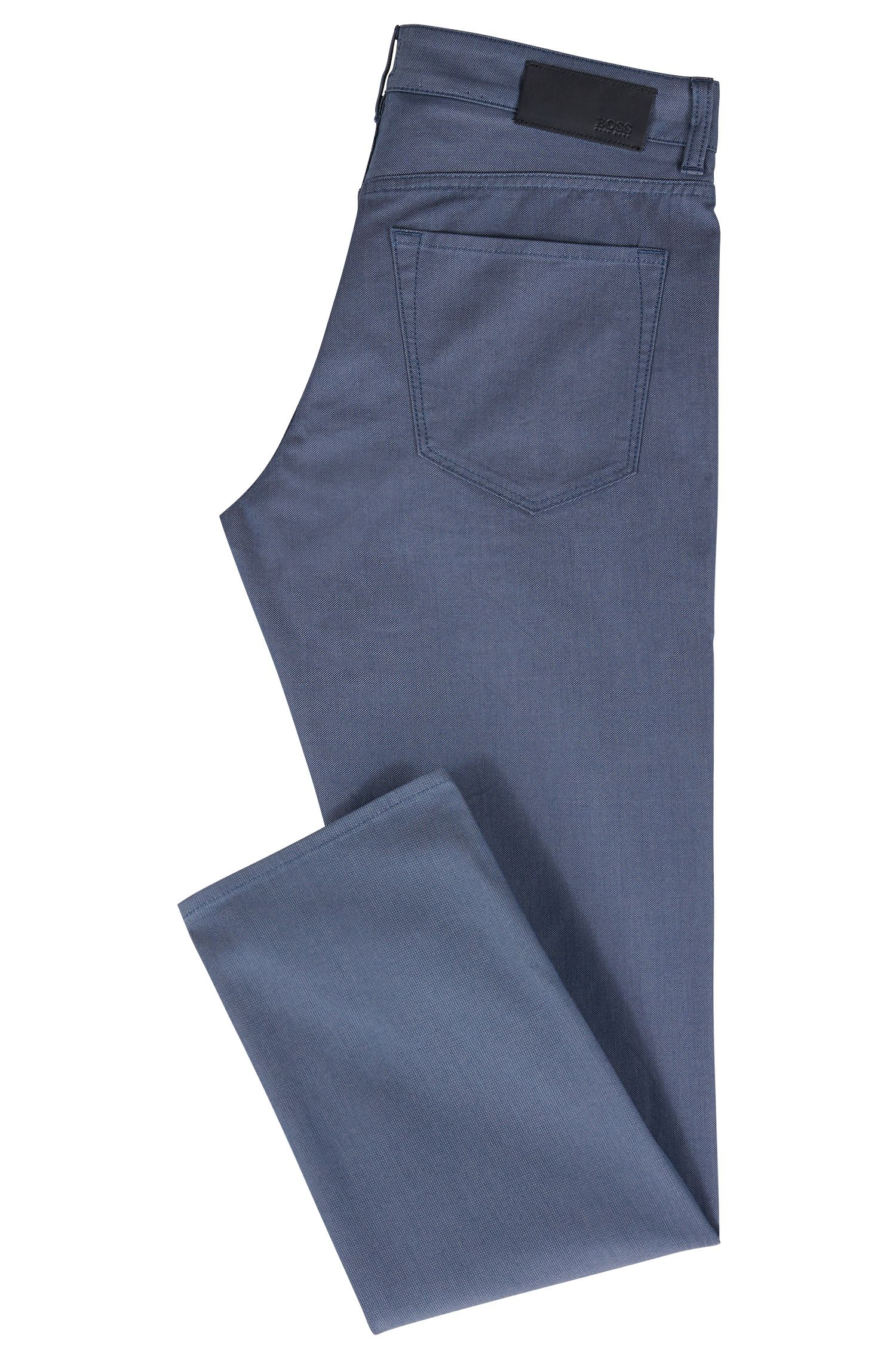Jean Regular Fit en denim stretch bicolore, Bleu foncé