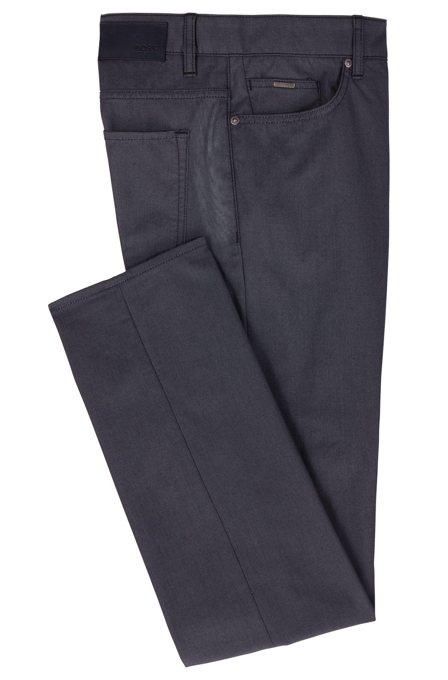 Jeans slim fit in denim elasticizzato bicolore, Blu scuro