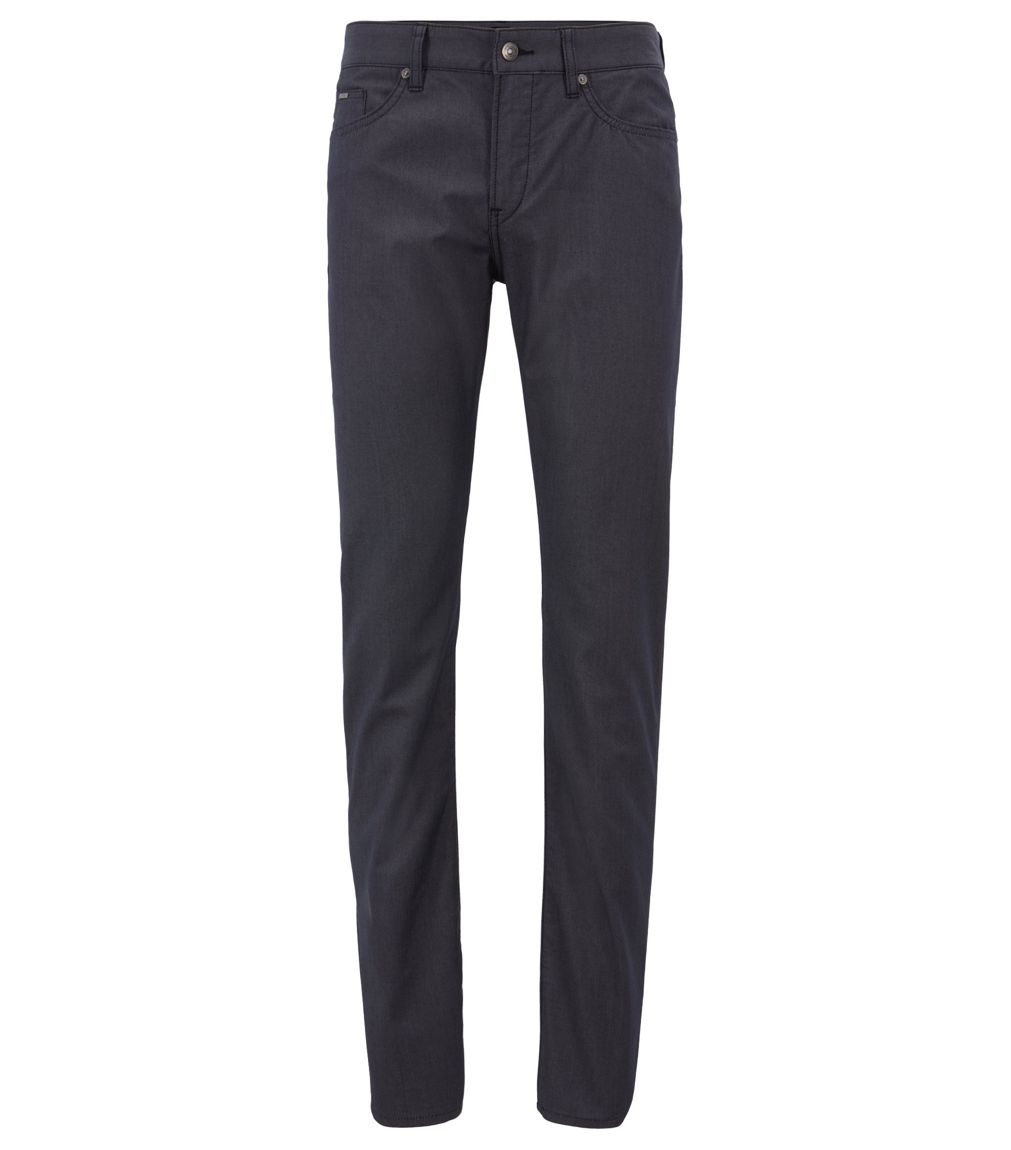 Jean Slim Fit en denim stretch bicolore, Bleu foncé