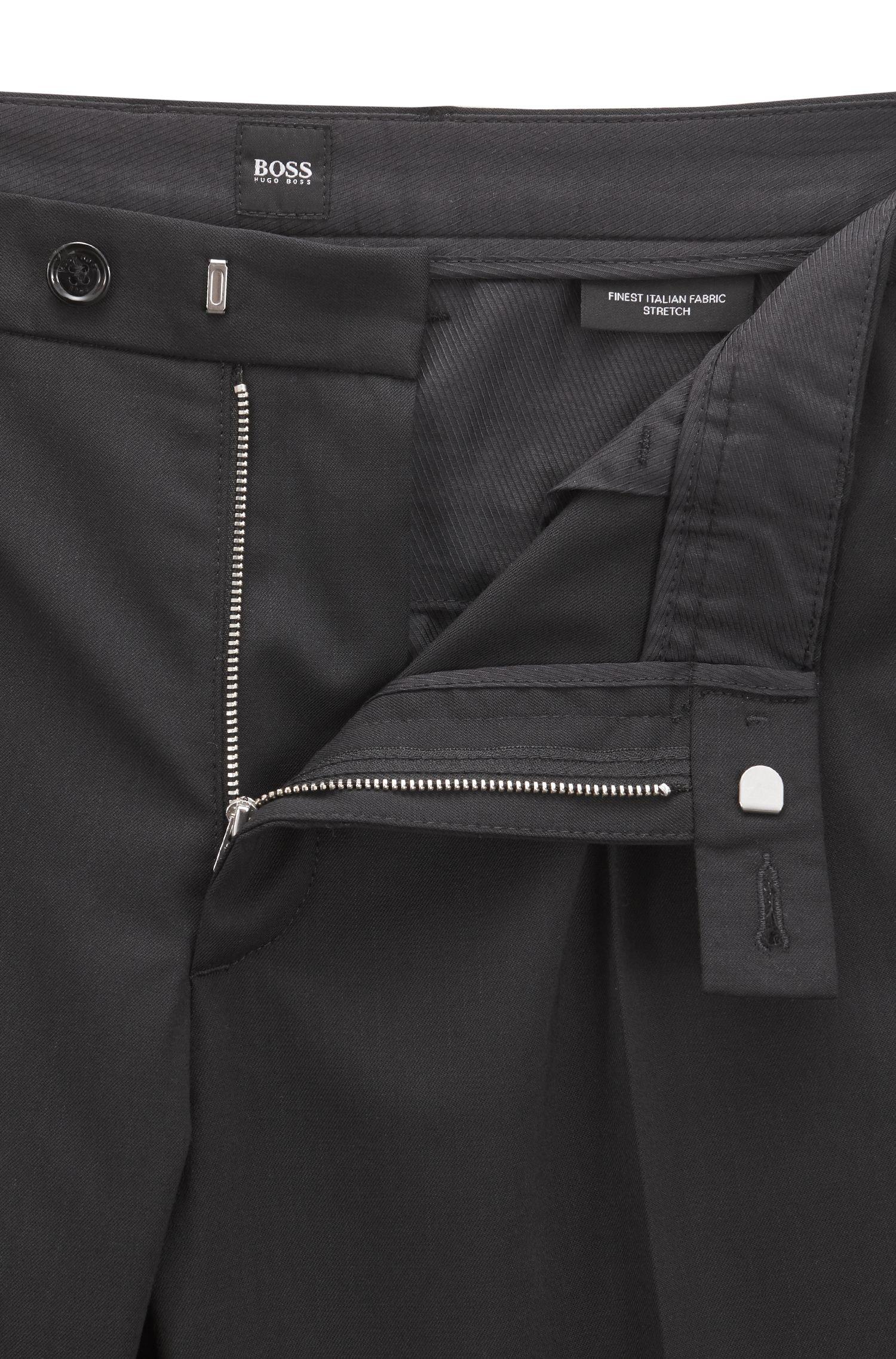 Chino regular fit in misto lana elasticizzata mercerizzata