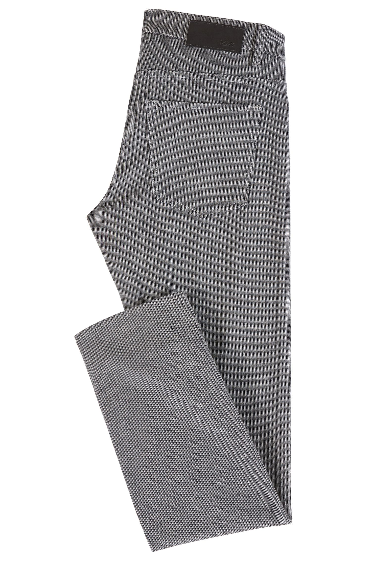 Slim-fit jeans in micro-patterned Italian stretch denim