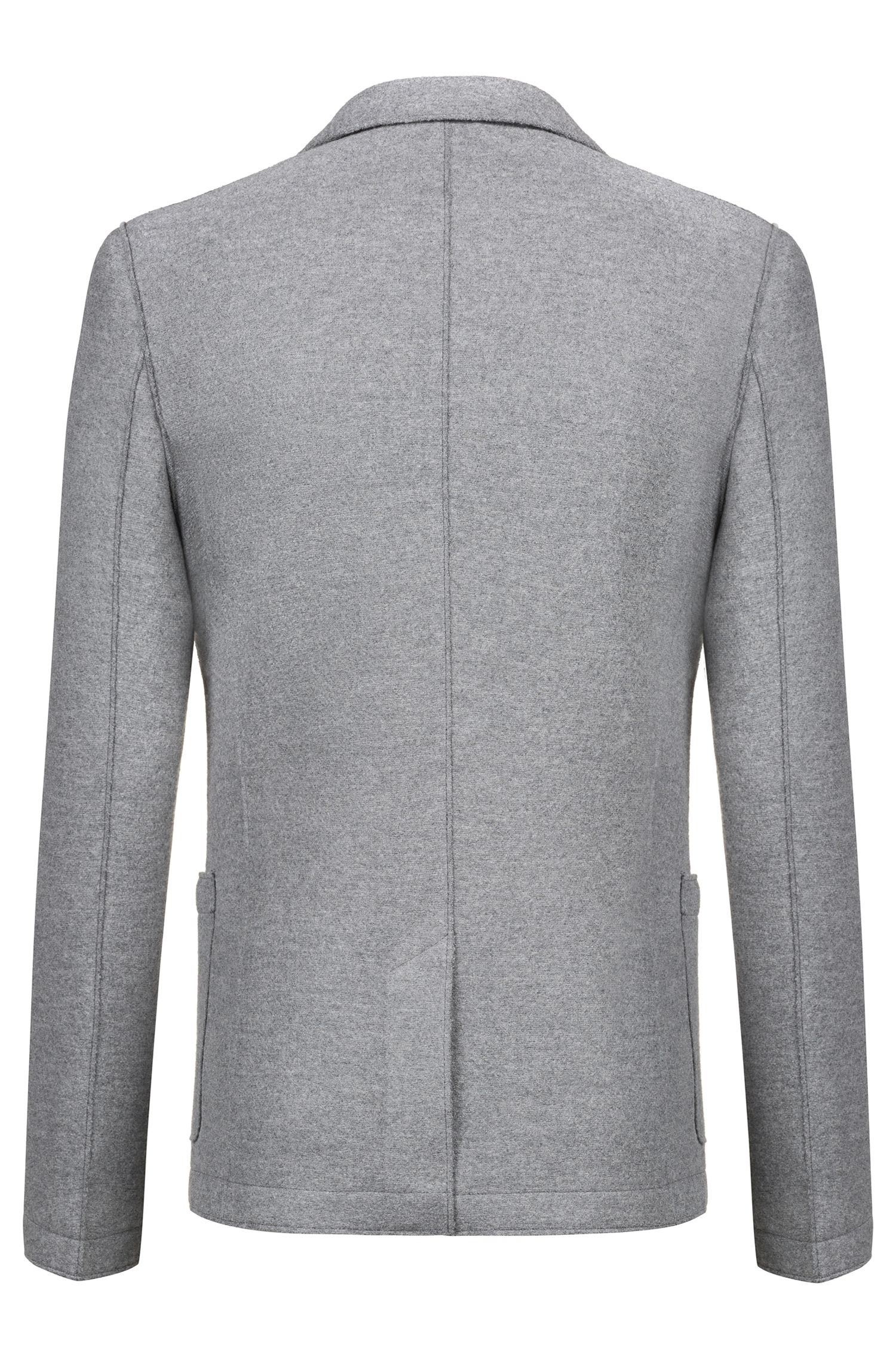 Blazer en jersey Extra Slim Fit à bords francs, Gris