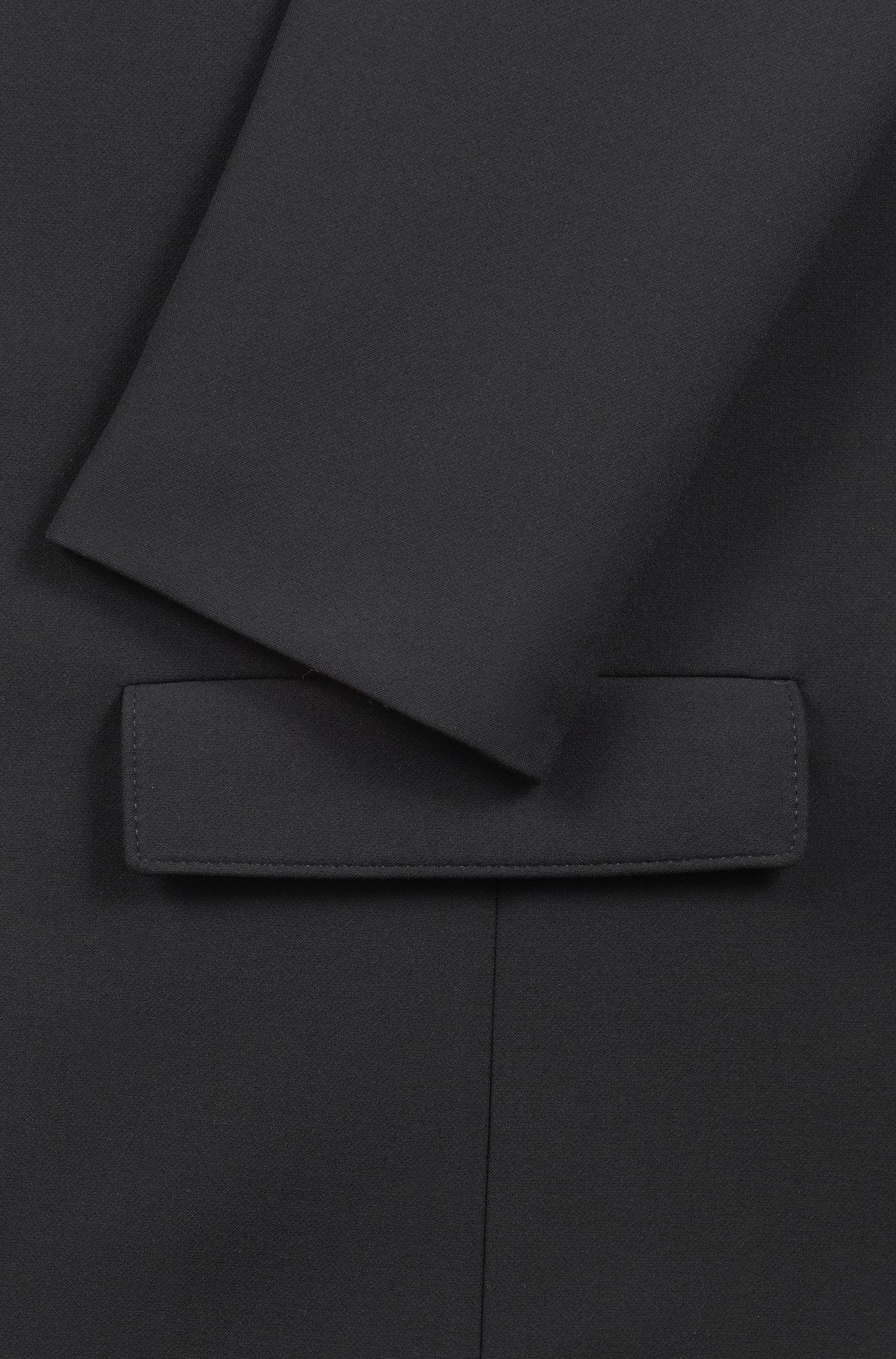 Regular-Fit Sakko mit Reißverschluss und Logo-Tape