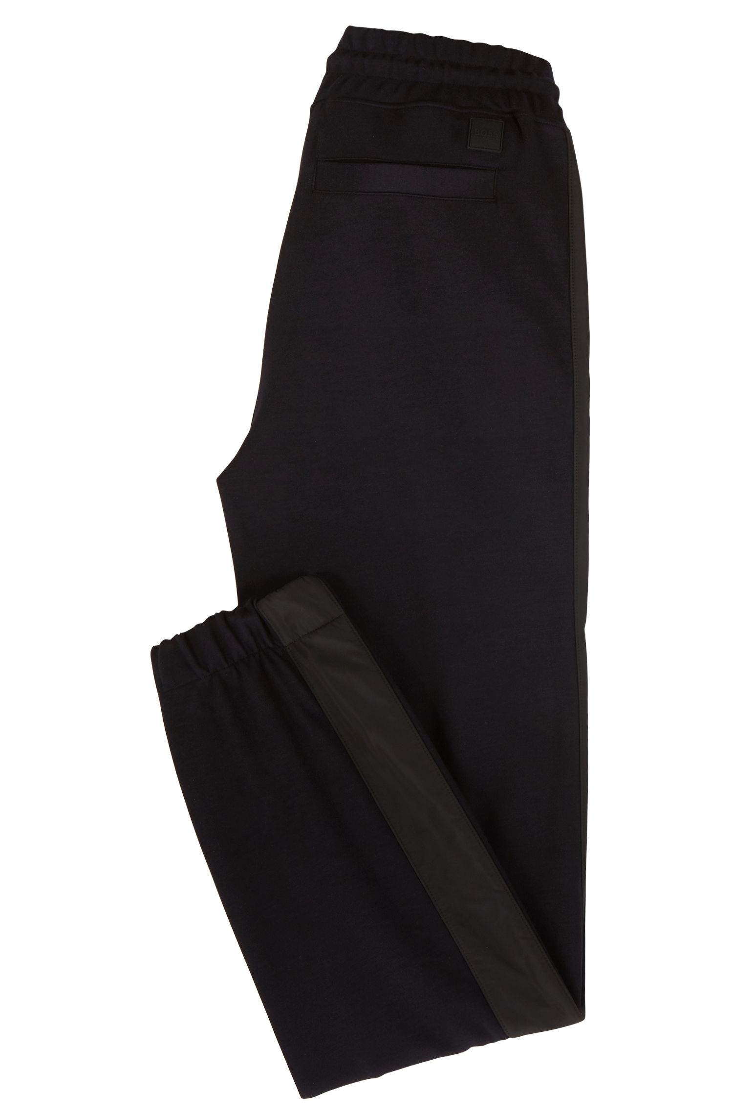 Water-repellent trousers with technical trims and cuffed hems, Dark Blue