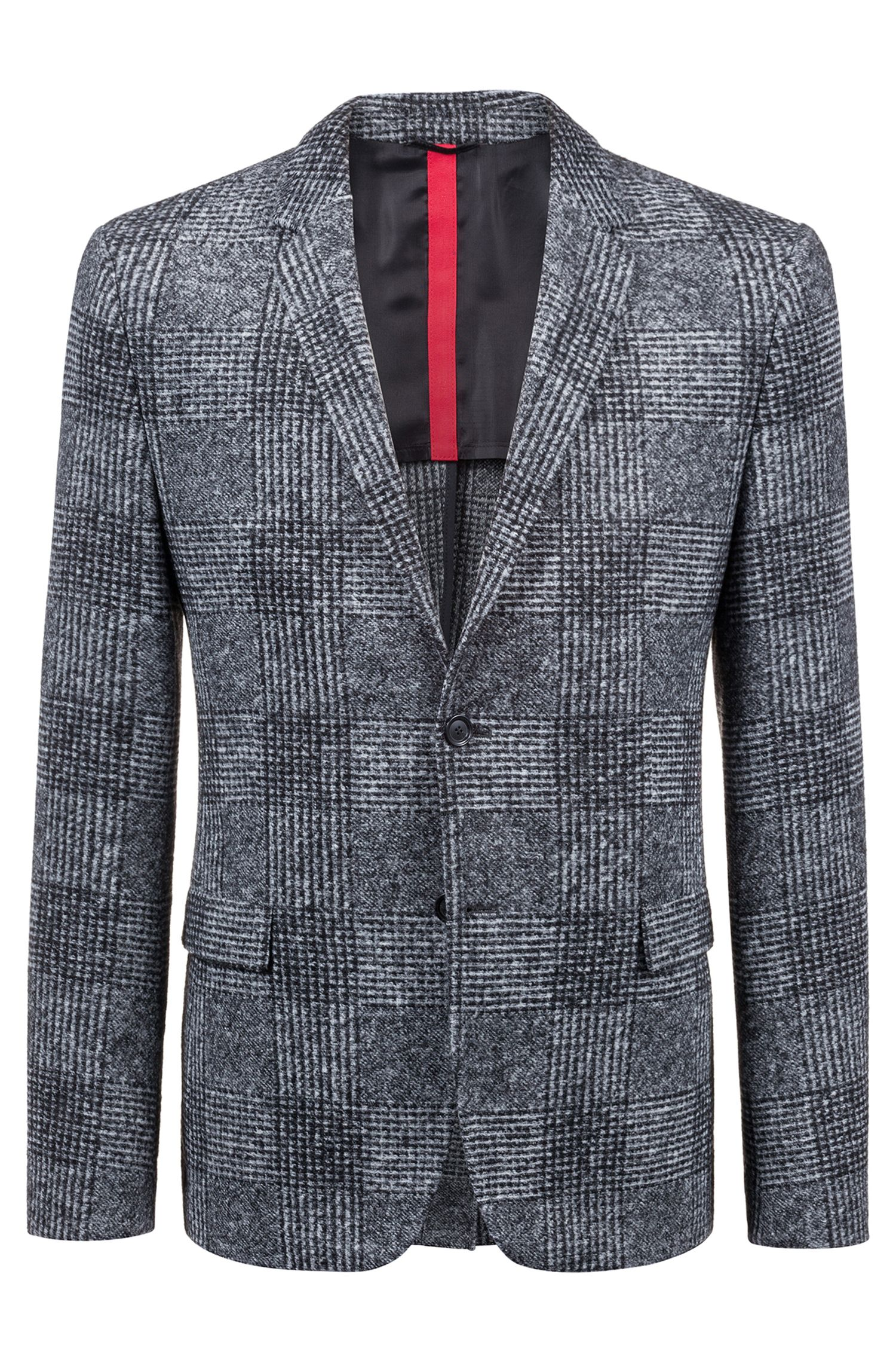 Slim-fit blazer with oversized Glen-check pattern