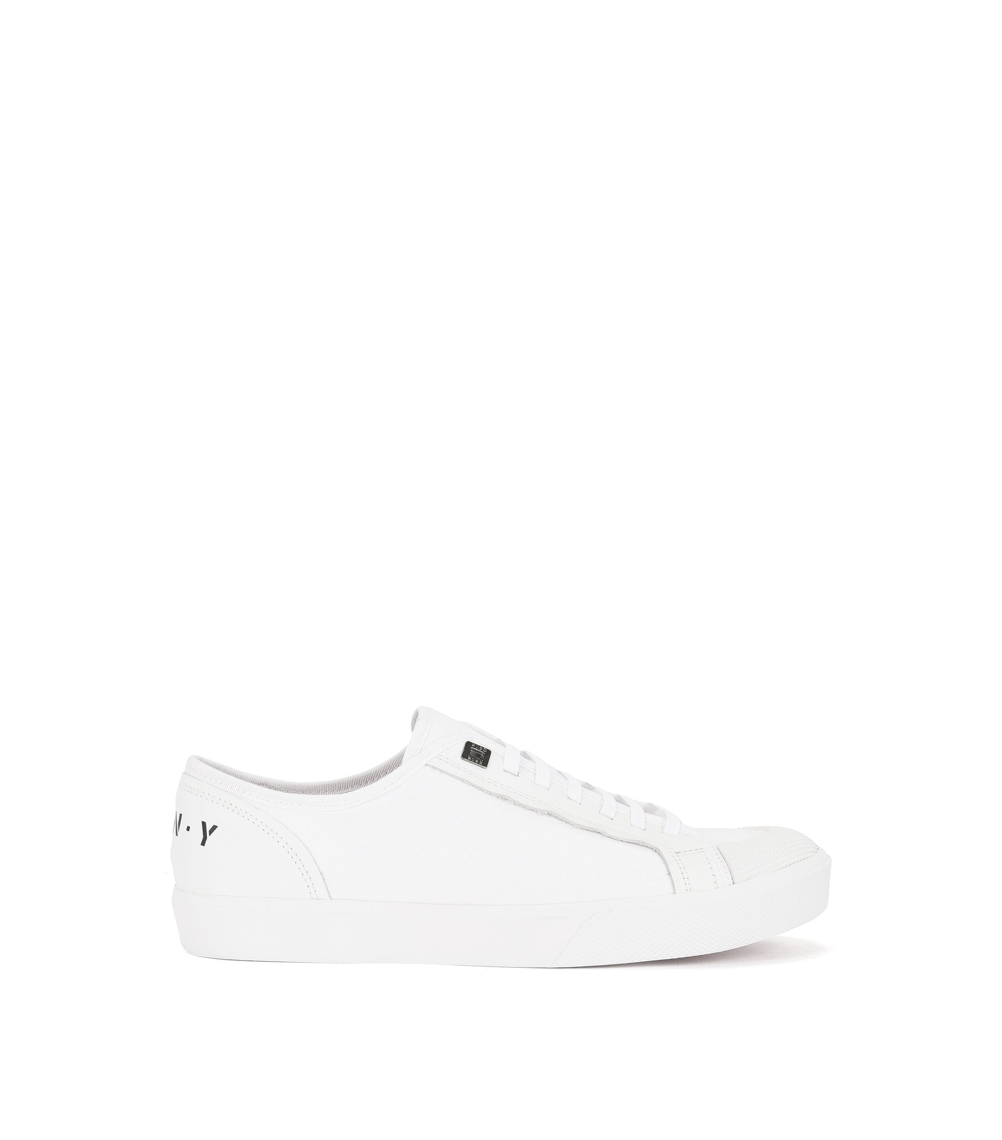 Runway Edition low-top trainers in cotton and leather, White