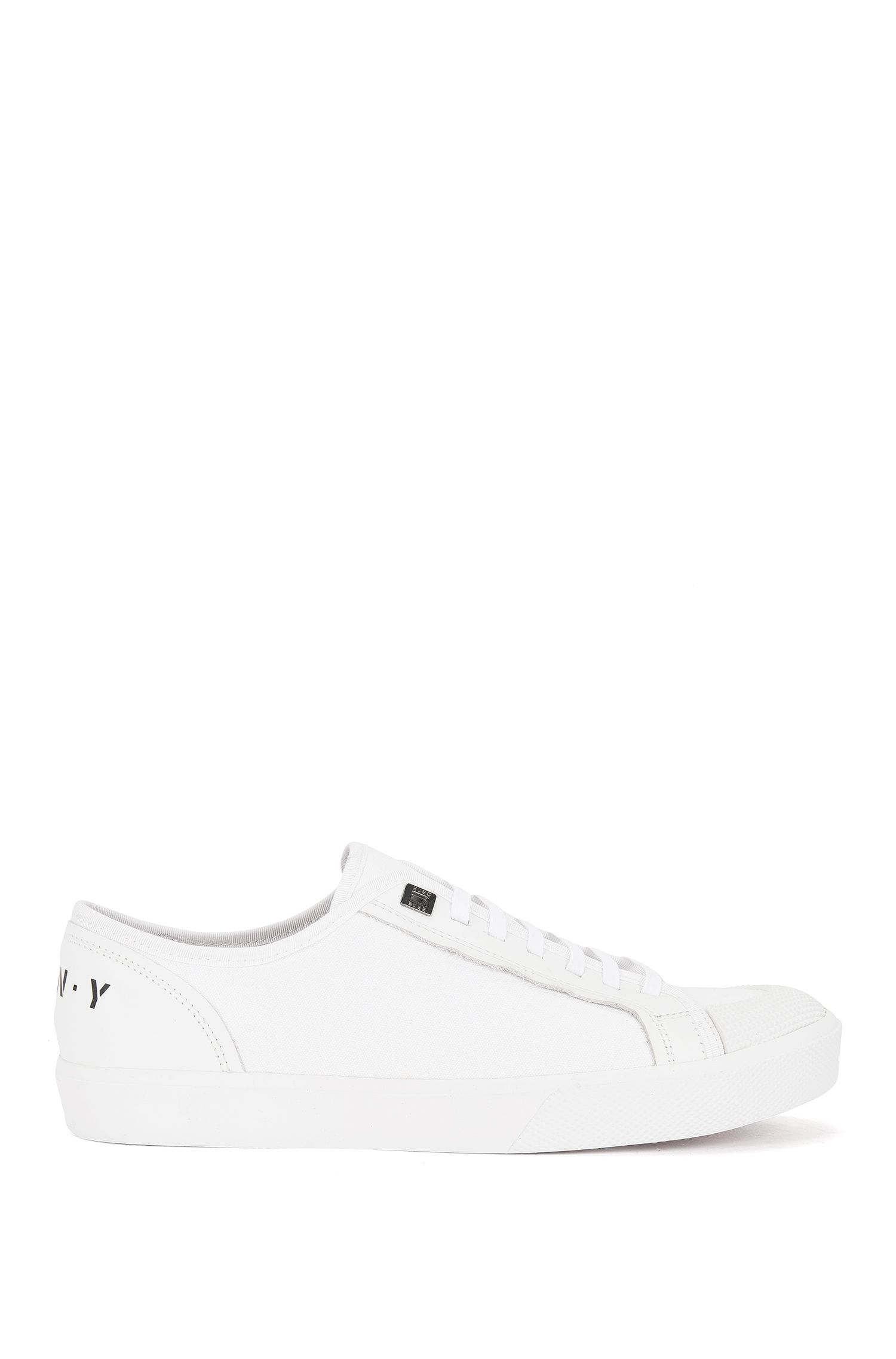 Baskets basses Runway Edition en coton et cuir195.00BOSS