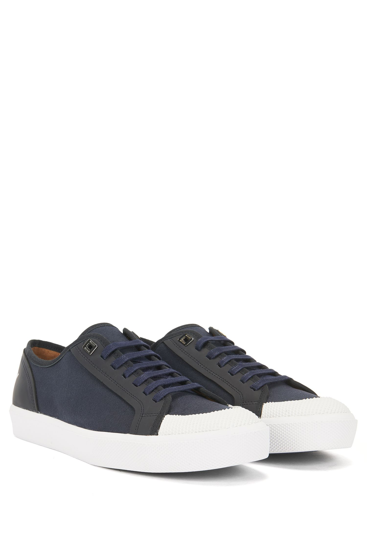 Runway Edition low-top trainers in cotton and leather