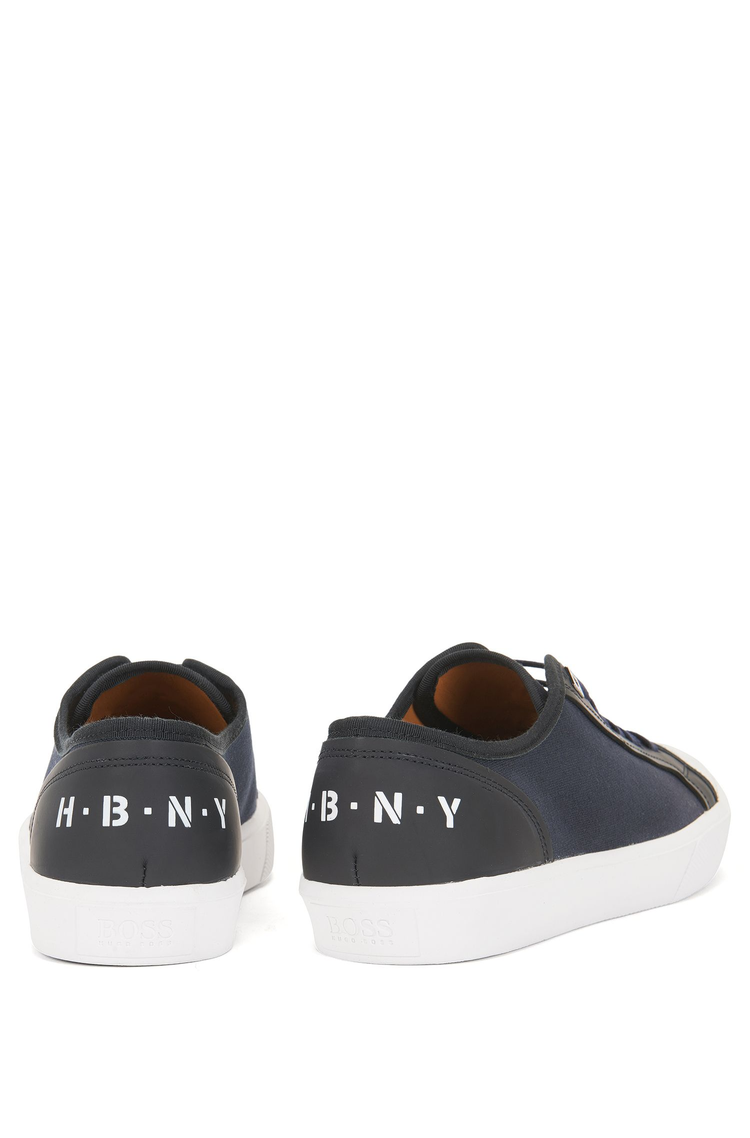Baskets basses Runway Edition en coton et cuir