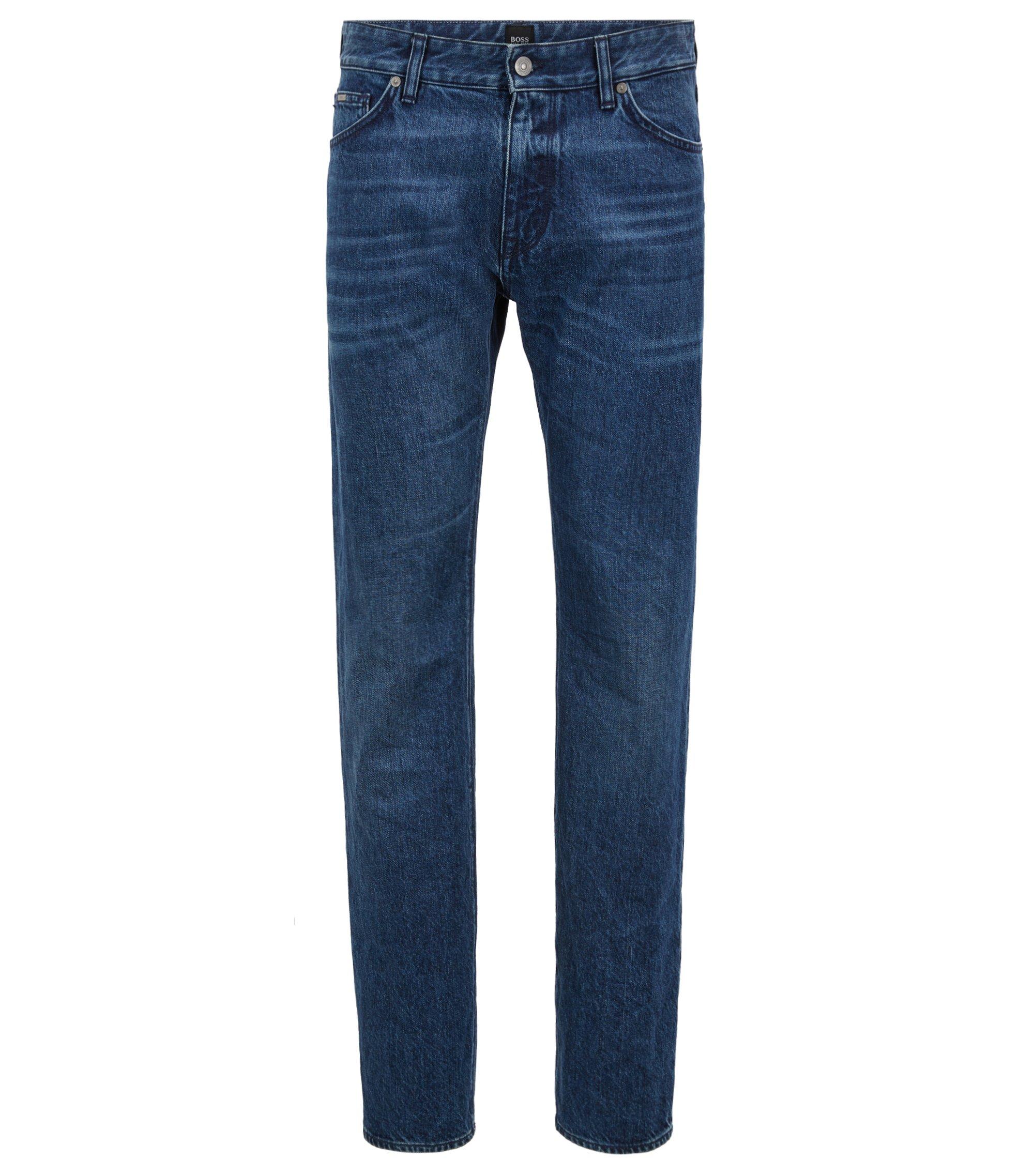 Regular-Fit Jeans aus recycelter Baumwolle, Blau