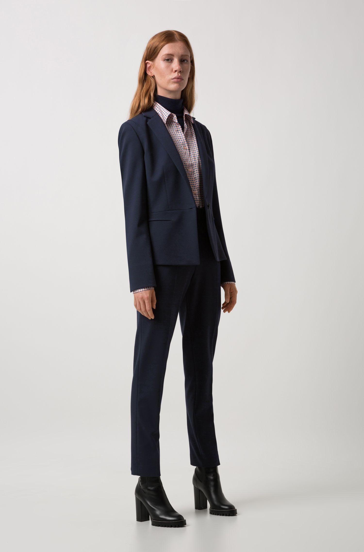 Blusa regular fit con estampado en 3 tonos de pequeños cuadros, Fantasía
