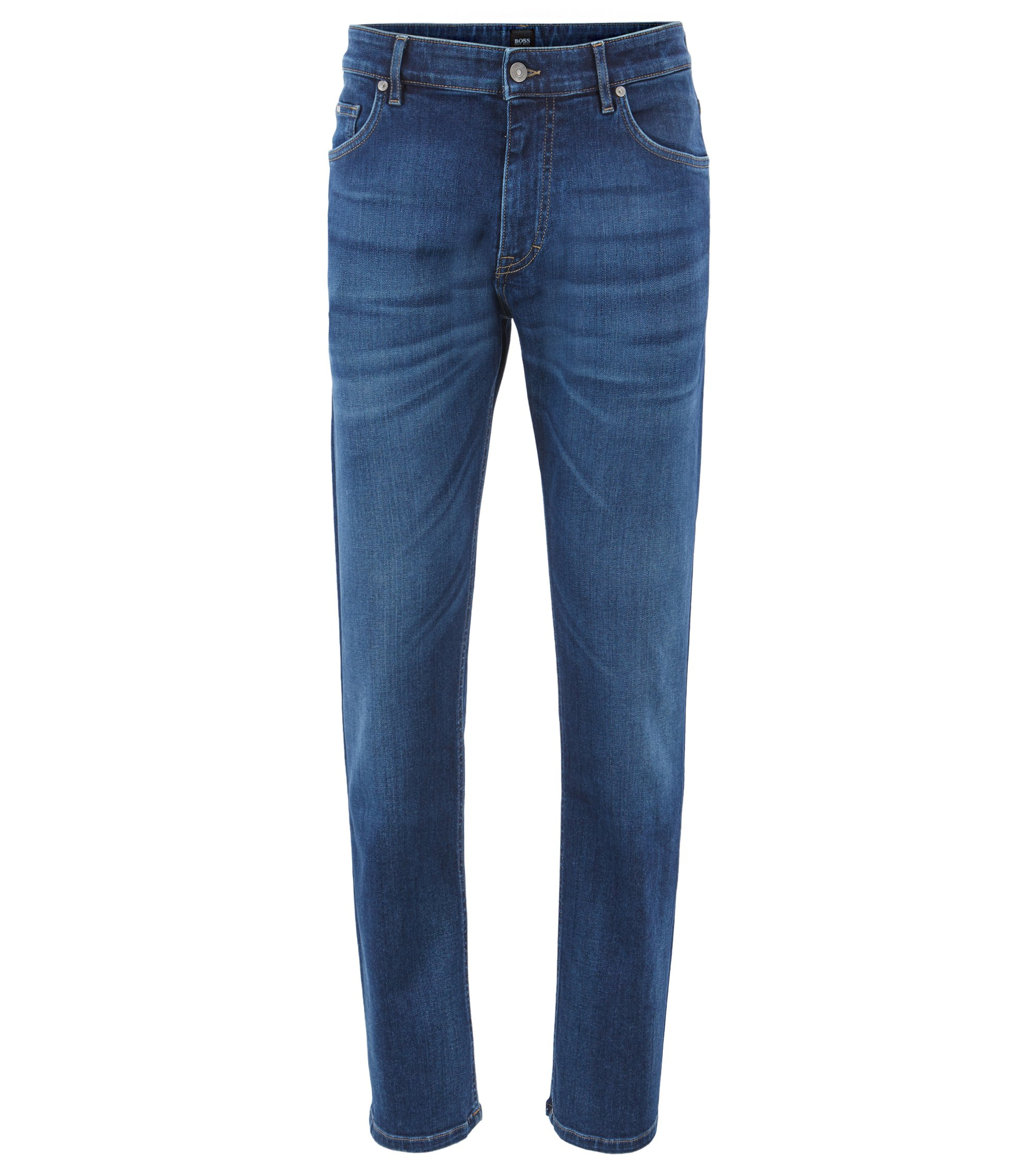 Relaxed-Fit Jeans aus italienischem Stretch-Denim, Blau