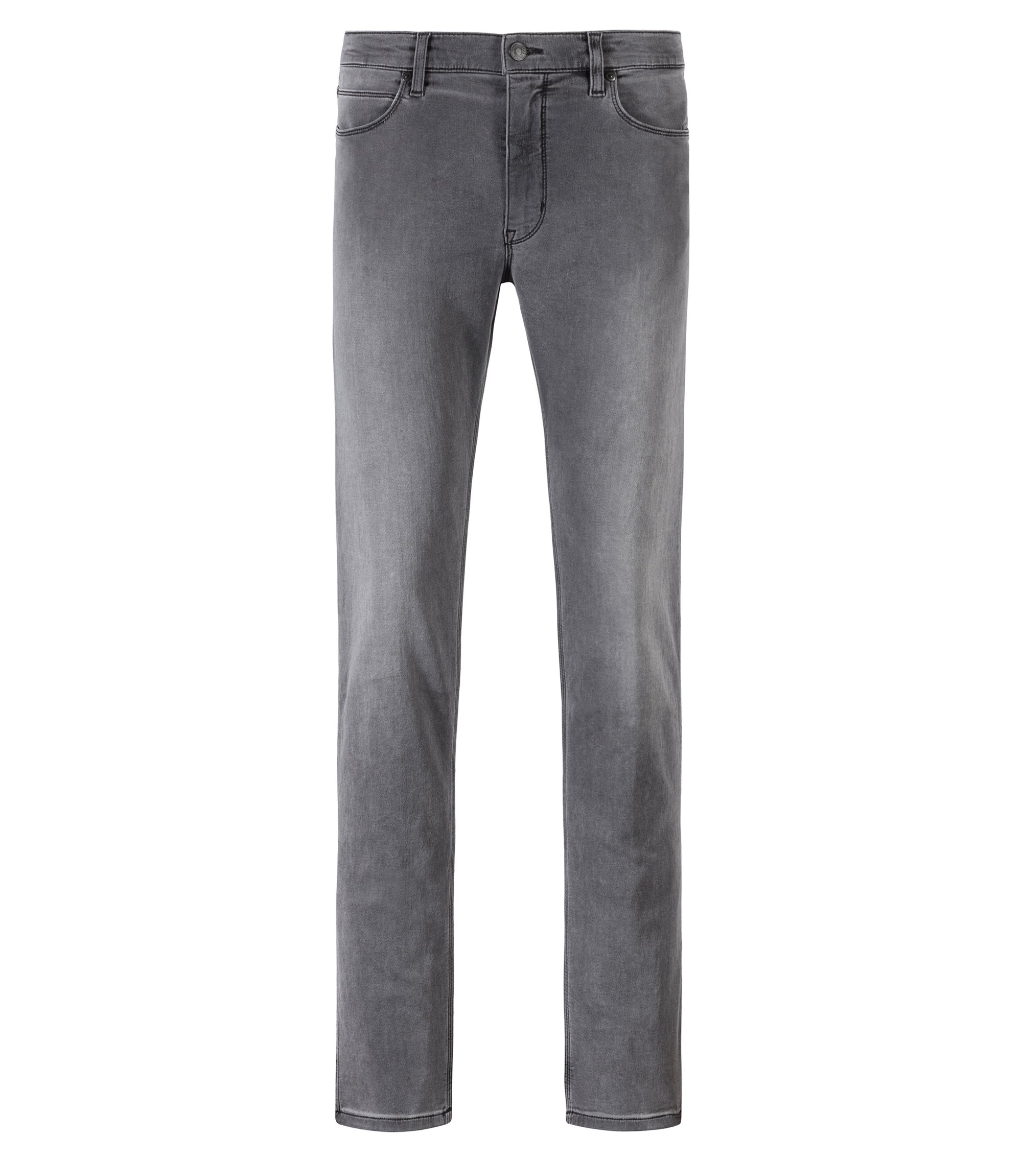 Skinny-fit jeans in mid-grey stretch denim, Grey