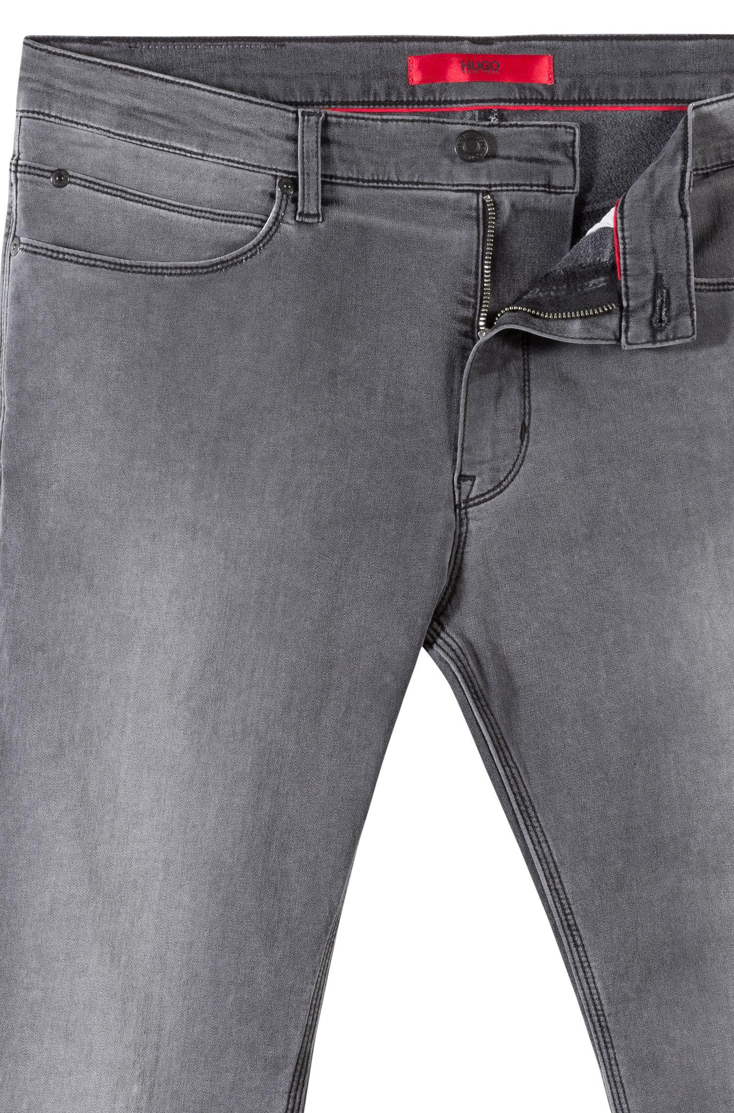 Skinny-fit jeans van middengrijs stretchdenim, Grijs