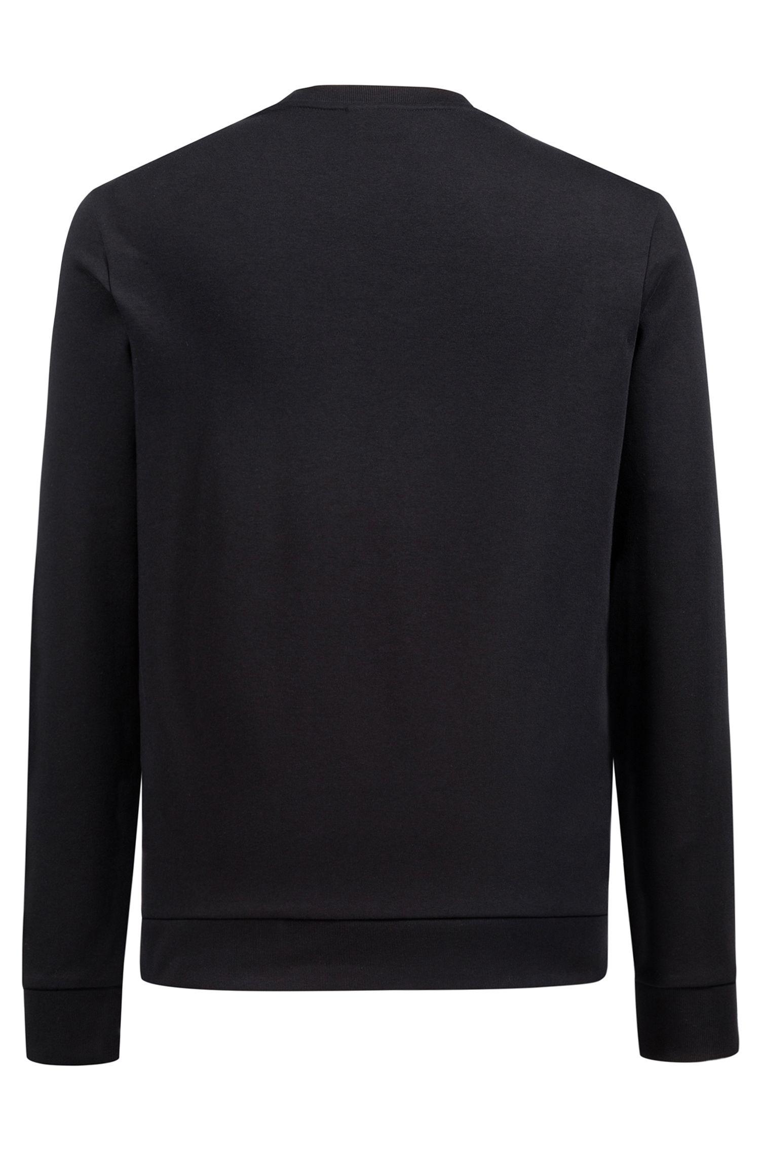 Sweatshirt aus reiner Baumwolle mit Reversed-Logo und Tarnmuster