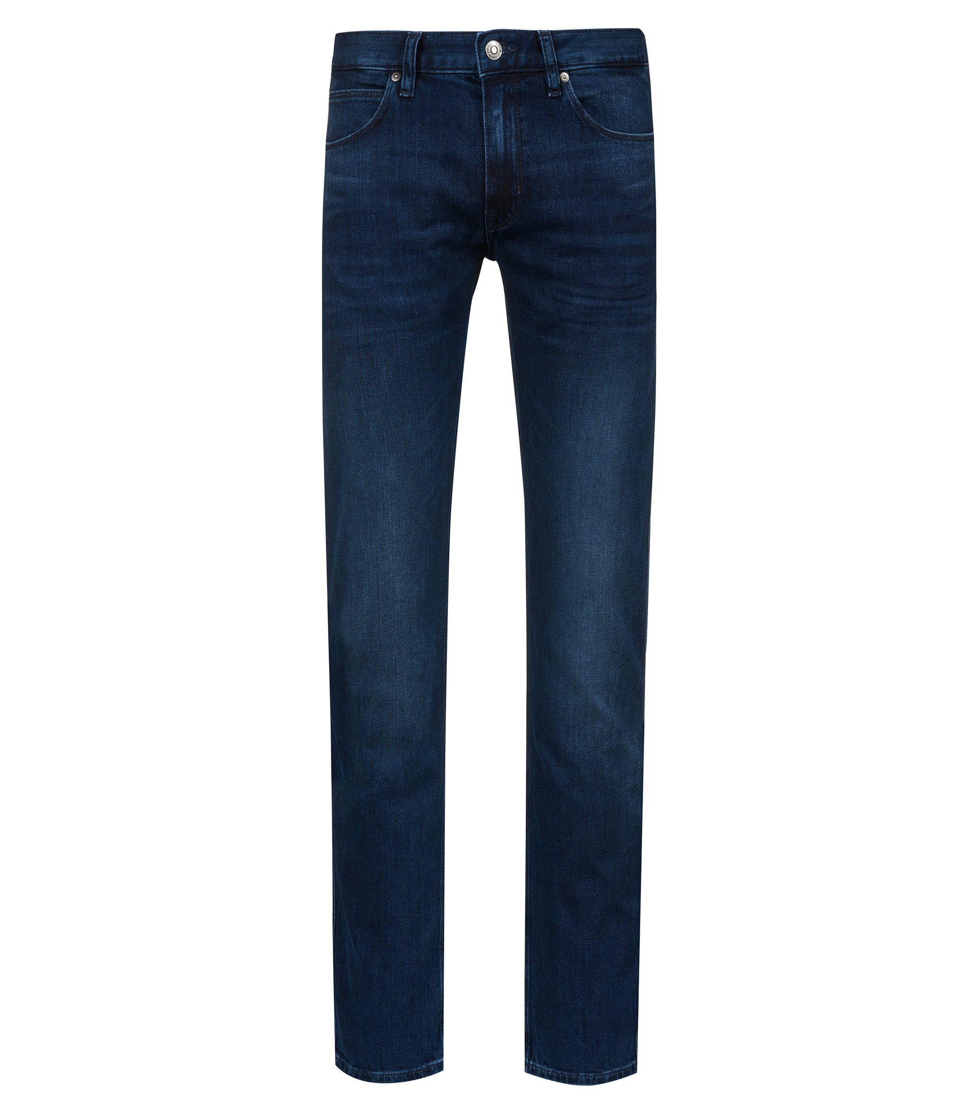 Jeans a vita bassa slim fit in denim elasticizzato, Blu