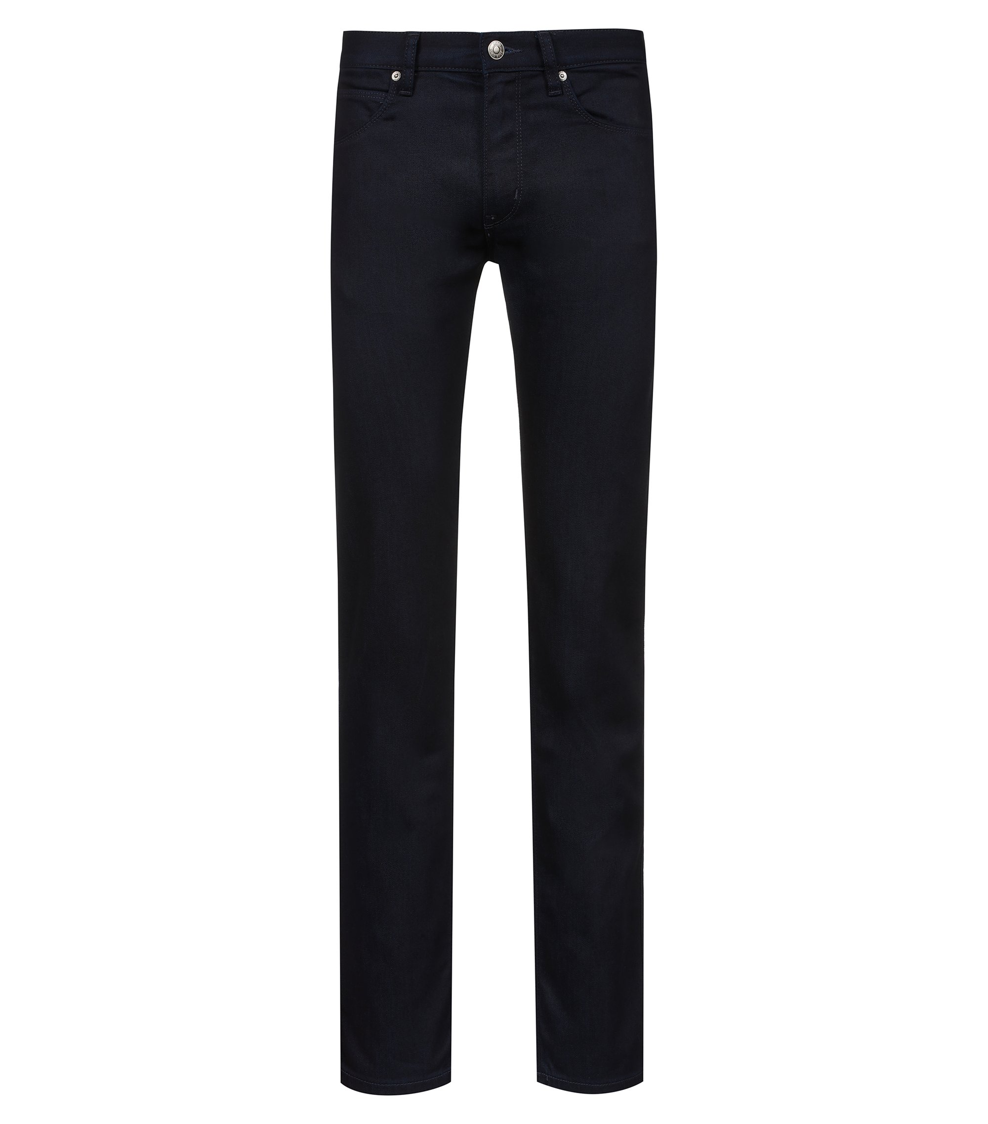 Jean Slim Fit en denim stretch, Bleu foncé