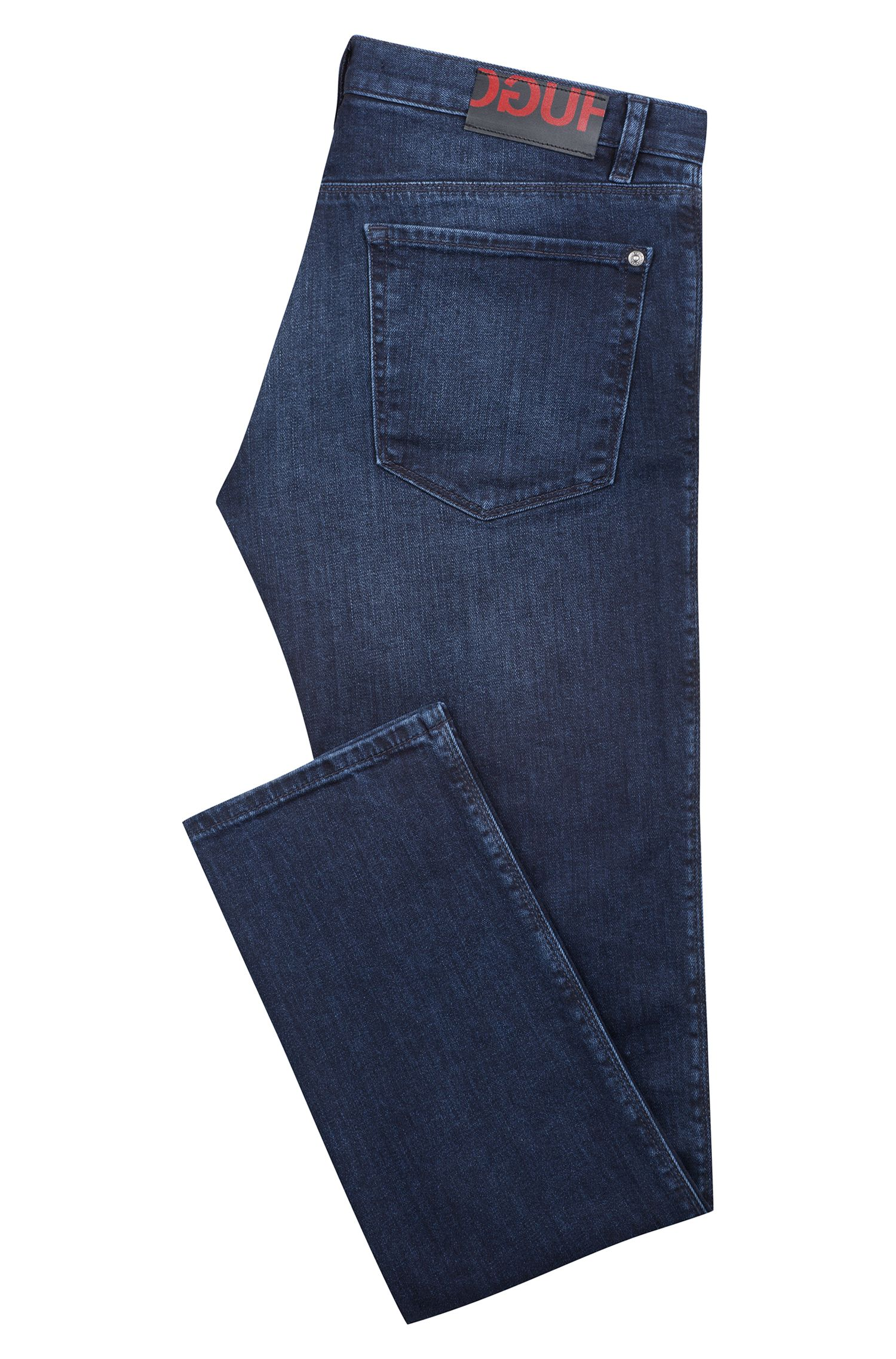 Slim-fit jeans van stretchdenim, Donkerblauw