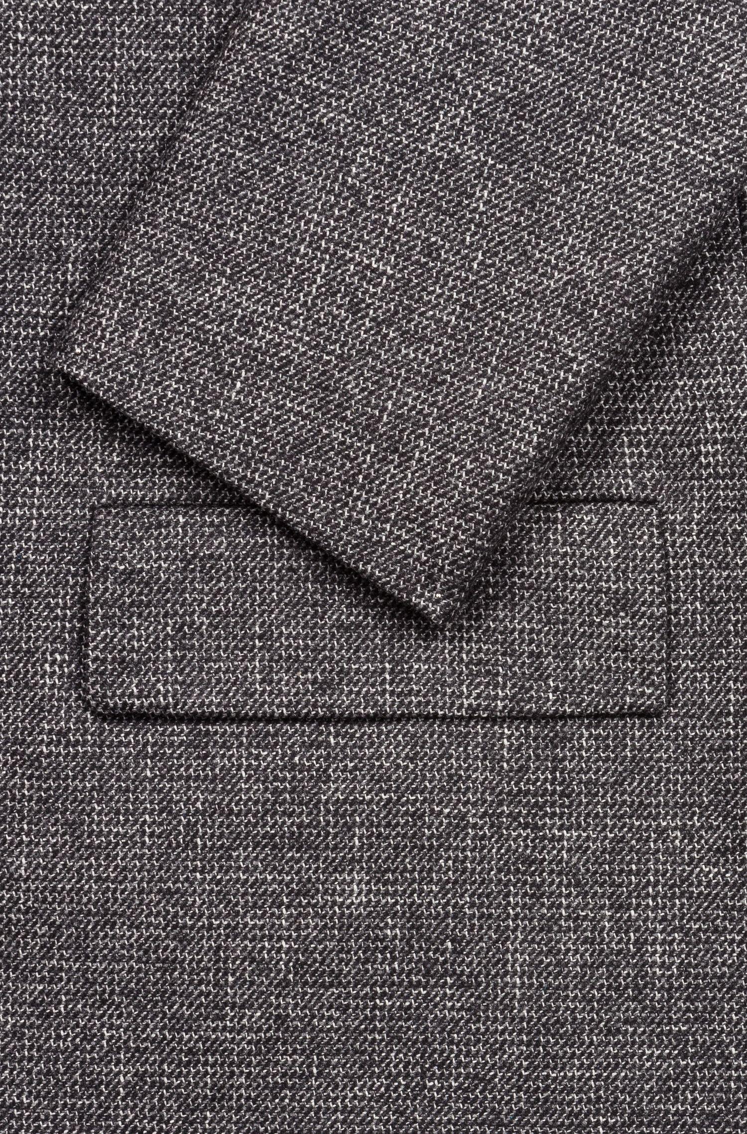 Cappotto regular fit con microdisegno all-over, Grigio scuro