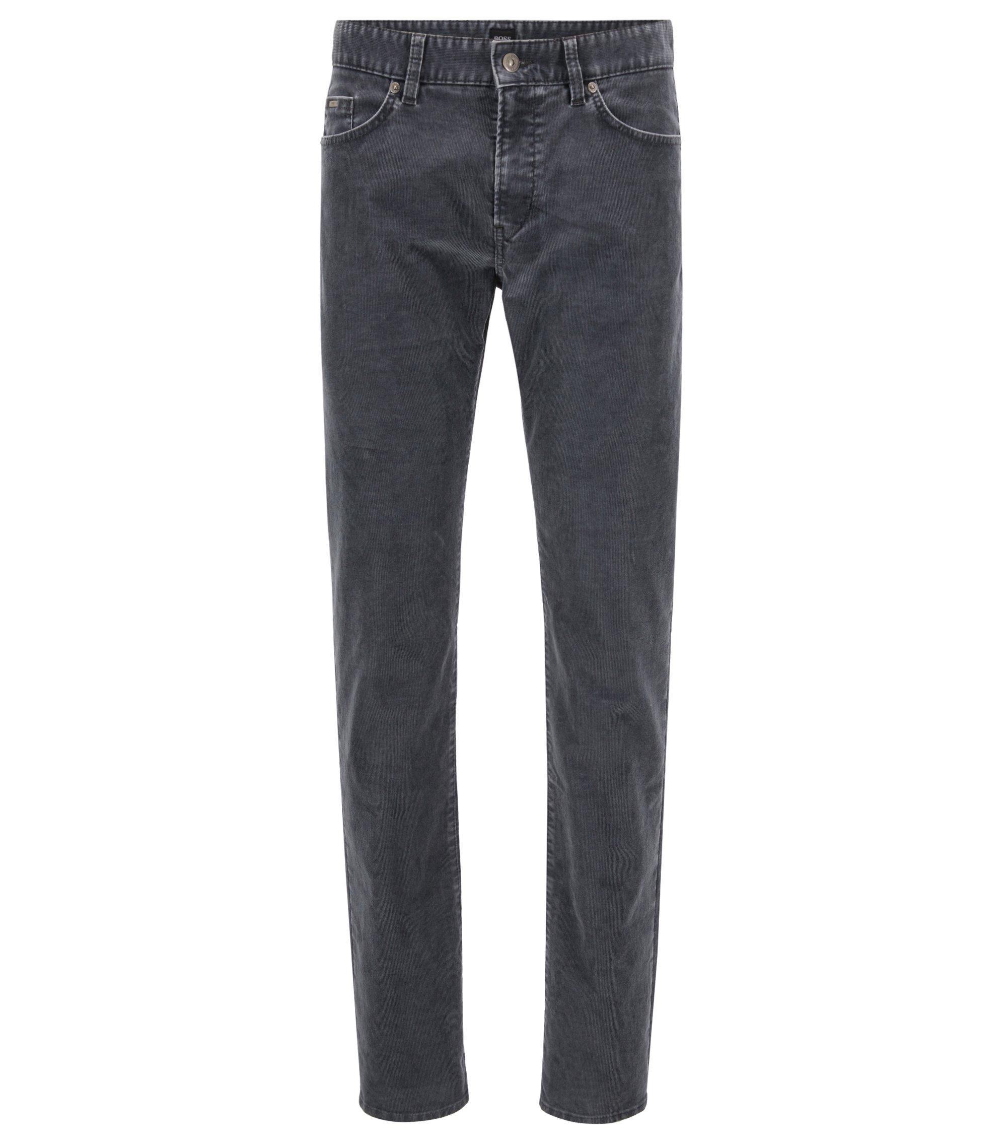 Slim-fit jeans in corduroy van een katoenmix met stretch, Grijs