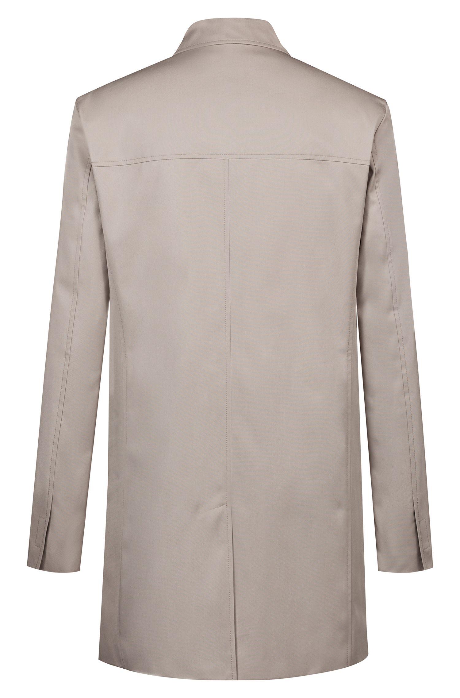Slim-fit mantel van waterafstotend, technisch materiaal , Beige