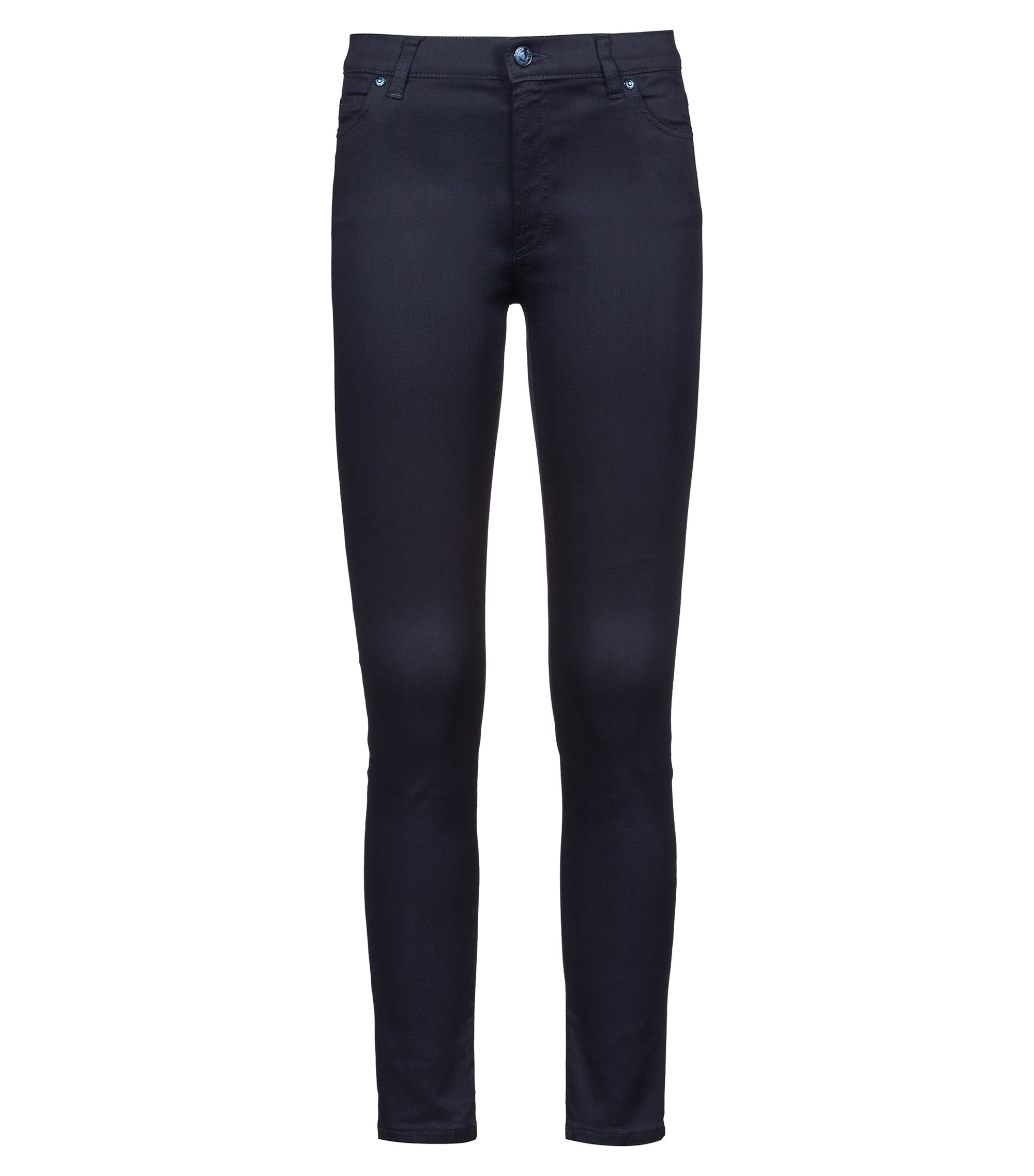Extra-slim-fit navy jeans in Magic Flex denim, Dark Blue