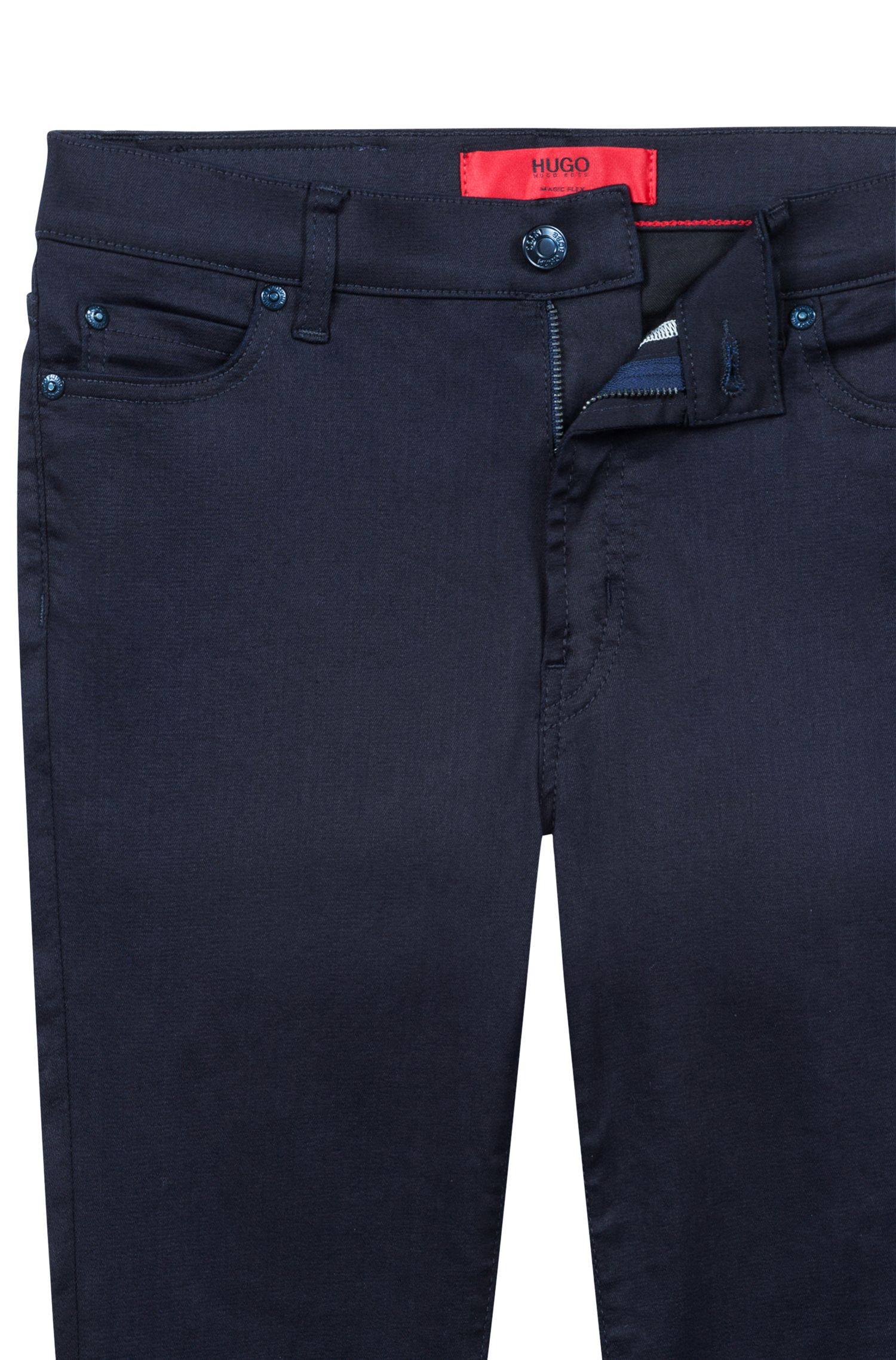 Extra slim-fit marineblauwe jeans van Magic Flex-denim